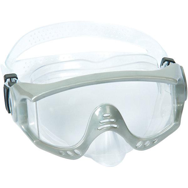 Маска для ныряния Splash Tech для взрослых, Bestway, серыйОчки, маски, ласты, шапочки<br>Маска для ныряния Splash Tech, Bestway - отличный вариант для активного отдыха и увлекательных исследований подводного мира. Маска оснащена линзами из поликарбоната с широким обзором. Благодаря уплотнителю с двойной кромкой плотно прилегает к лицу и не допускает протекания воды. Маска надёжно фиксируется регулируемым ремешком. Соответствует требованиям безопасности и стандартам качества продукции. Маску для ныряния Splash Tech для взрослых, Bestway, можно купить в нашем интернет-магазине.<br><br> В товар входит: <br>- маска для ныряния<br><br>Дополнительная информация: <br> - Материал: поликарбонат<br> - Размер упаковки: 22 х 18 х 9 см<br> - Вес: 168 гр.  <br> - Возраст: для взрослых и детей от 14 лет<br> - Цвет: серый<br> - Бренд: Bestway<br>Ширина мм: 235; Глубина мм: 185; Высота мм: 870; Вес г: 168; Возраст от месяцев: 168; Возраст до месяцев: 1188; Пол: Унисекс; Возраст: Детский; SKU: 4828548;