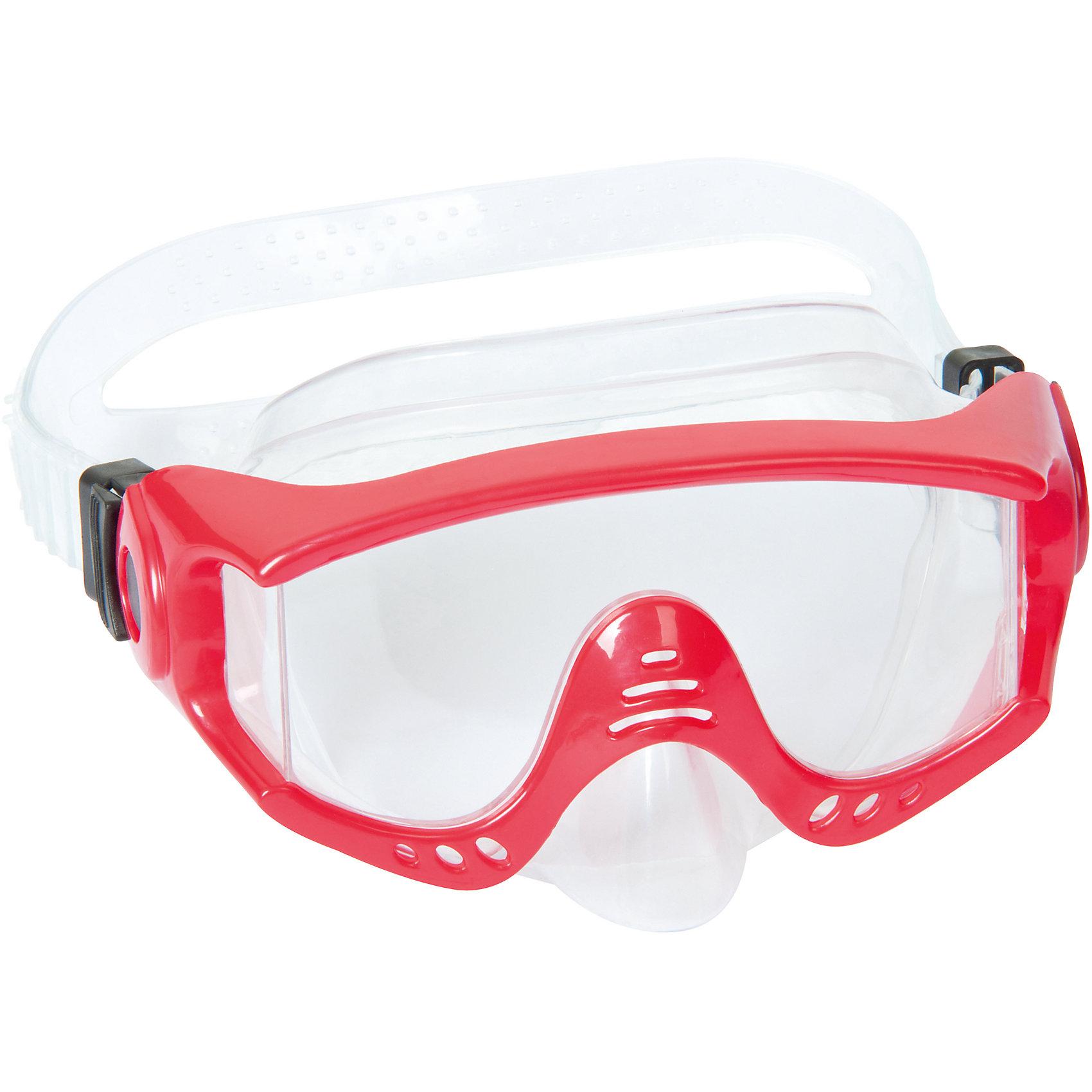 Маска для ныряния Splash Tech для взрослых, Bestway, красныйОчки, маски, ласты, шапочки<br>Маска для ныряния Splash Tech, Bestway - отличный вариант для активного отдыха и увлекательных исследований подводного мира. Маска оснащена линзами из поликарбоната с широким обзором. Благодаря уплотнителю с двойной кромкой плотно прилегает к лицу и не допускает протекания воды. Маска надёжно фиксируется регулируемым ремешком. Соответствует требованиям безопасности и стандартам качества продукции. Маску для ныряния Splash Tech для взрослых, Bestway, можно купить в нашем интернет-магазине.<br><br> В товар входит: <br>- маска для ныряния<br><br>Дополнительная информация: <br> - Материал: поликарбонат<br> - Размер упаковки: 22 х 18 х 9 см<br> - Вес: 168 гр.  <br> - Возраст: для взрослых и детей от 14 лет<br> - Цвет: красный<br> - Бренд: Bestway<br><br>Ширина мм: 235<br>Глубина мм: 185<br>Высота мм: 870<br>Вес г: 168<br>Возраст от месяцев: 168<br>Возраст до месяцев: 1188<br>Пол: Женский<br>Возраст: Детский<br>SKU: 4828549