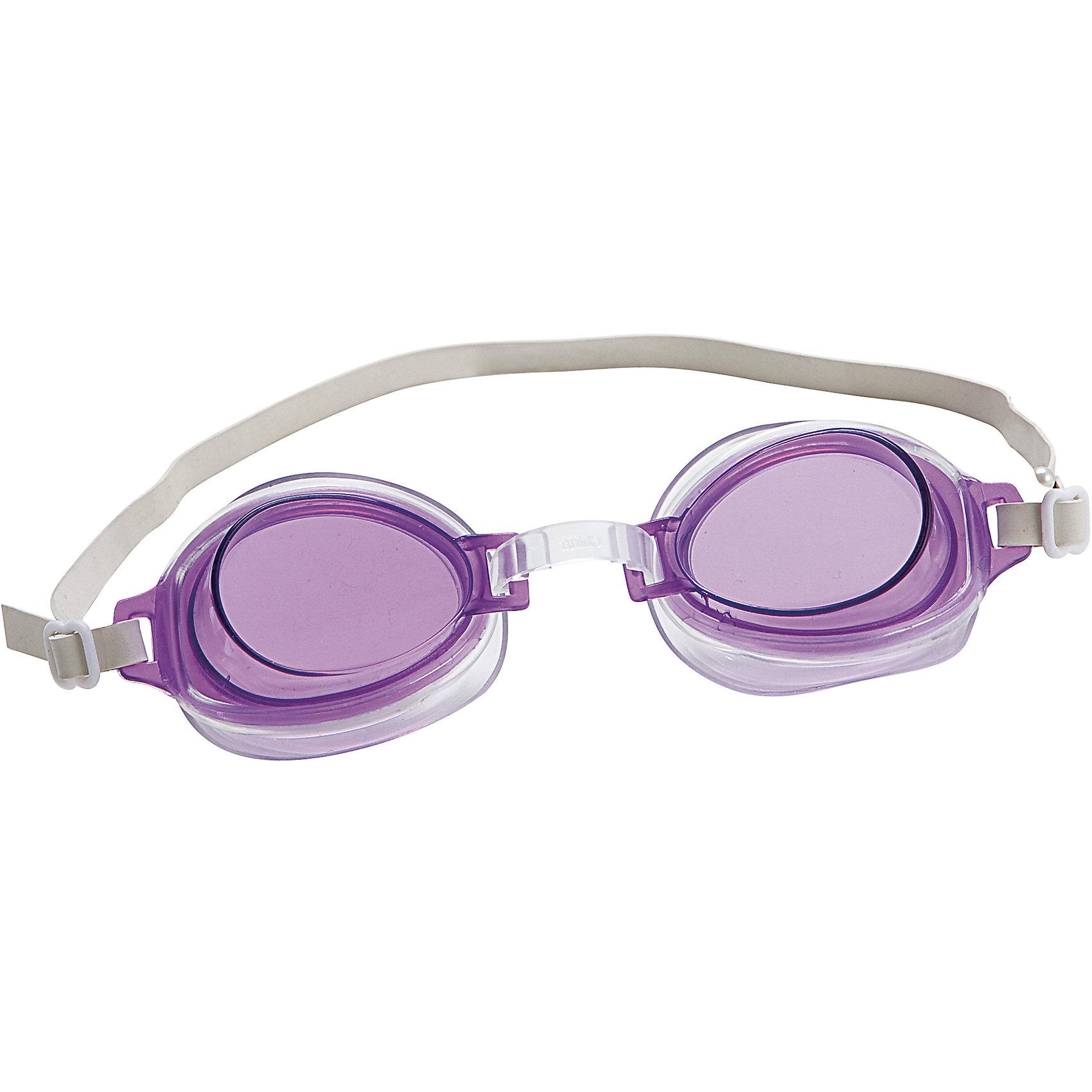 Очки для плавания Bestway High Style, фиолетовыйОчки для плавания High Style - отличный выбор для купания как в открытом водоеме, так и в бассейне. Они прекрасно защитят глаза вашего ребенка от хлорки и селеной воды. Очки для плавания High Style можно купить в нашем интернет-магазине.<br><br>Ширина мм: 20<br>Глубина мм: 200<br>Высота мм: 150<br>Вес г: 1550<br>Возраст от месяцев: 36<br>Возраст до месяцев: 72<br>Пол: Унисекс<br>Возраст: Детский<br>SKU: 4829100