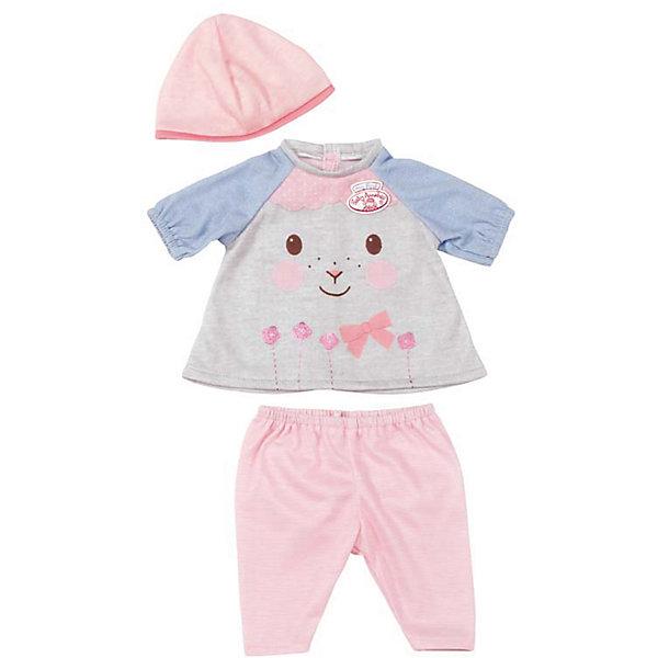 Одежда для куклы 36 см, my first Baby Annabell, цвет Серо-голубойОдежда для кукол<br>Прекрасный комплект для самой любимой куклы на свете! В каждый комплект входит 3 предмета - шапочка, штанишки и кофточка. В дизайне используется классический стиль Zapf Creation - пастельные тона, милые принты, розовый и голубой цвета. Одежда выполнена из высококачественного текстильного материала, с учетом пропорций куклы.  Дополнительная информация:  - Материал: текстиль. - Комплектация: кофта, шапочка, штанишки.   - Цвет: розовый, голубой. -  Одежду для куклы 36 см, my first Baby Annabell (Беби Анабель), можно купить в нашем магазине.<br><br>Ширина мм: 212<br>Глубина мм: 180<br>Высота мм: 50<br>Вес г: 74<br>Возраст от месяцев: 36<br>Возраст до месяцев: 84<br>Пол: Женский<br>Возраст: Детский<br>SKU: 4829112