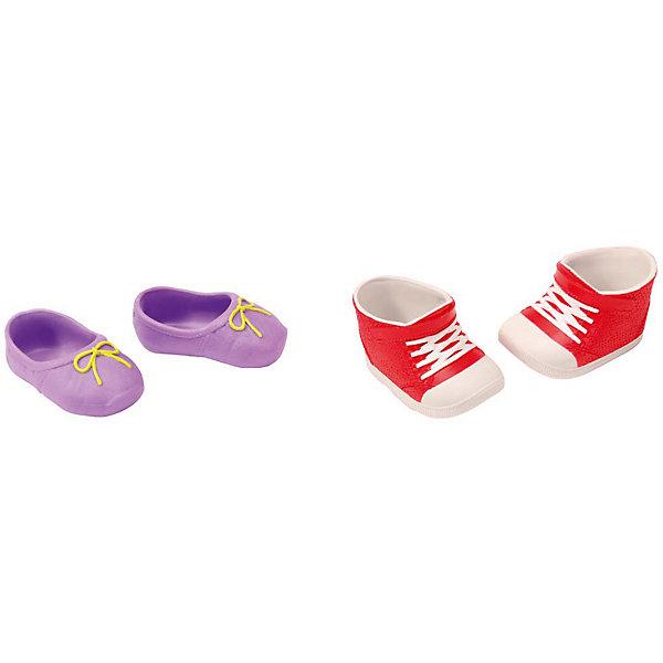 Ботиночки, 2 пары (для куклы), BABY born, красные-фиолетовыеОдежда для кукол<br>Набор обуви для куклы Бэби Бон (Baby Born) от компании Zapf Creation. Яркие, стильные ботиночки, кроссовки и сандалии украсят кукольный гардероб. Как и все игрушки и аксессуары Беби Борн, обувь выполнена очень качественно, с использованием только безопасных материалов и красок. В ассортименте 4 различных набора, по 2 пары обуви в каждом. Наборы продаются отдельно.<br>Ширина мм: 219; Глубина мм: 179; Высота мм: 38; Вес г: 78; Возраст от месяцев: 36; Возраст до месяцев: 60; Пол: Женский; Возраст: Детский; SKU: 4829118;