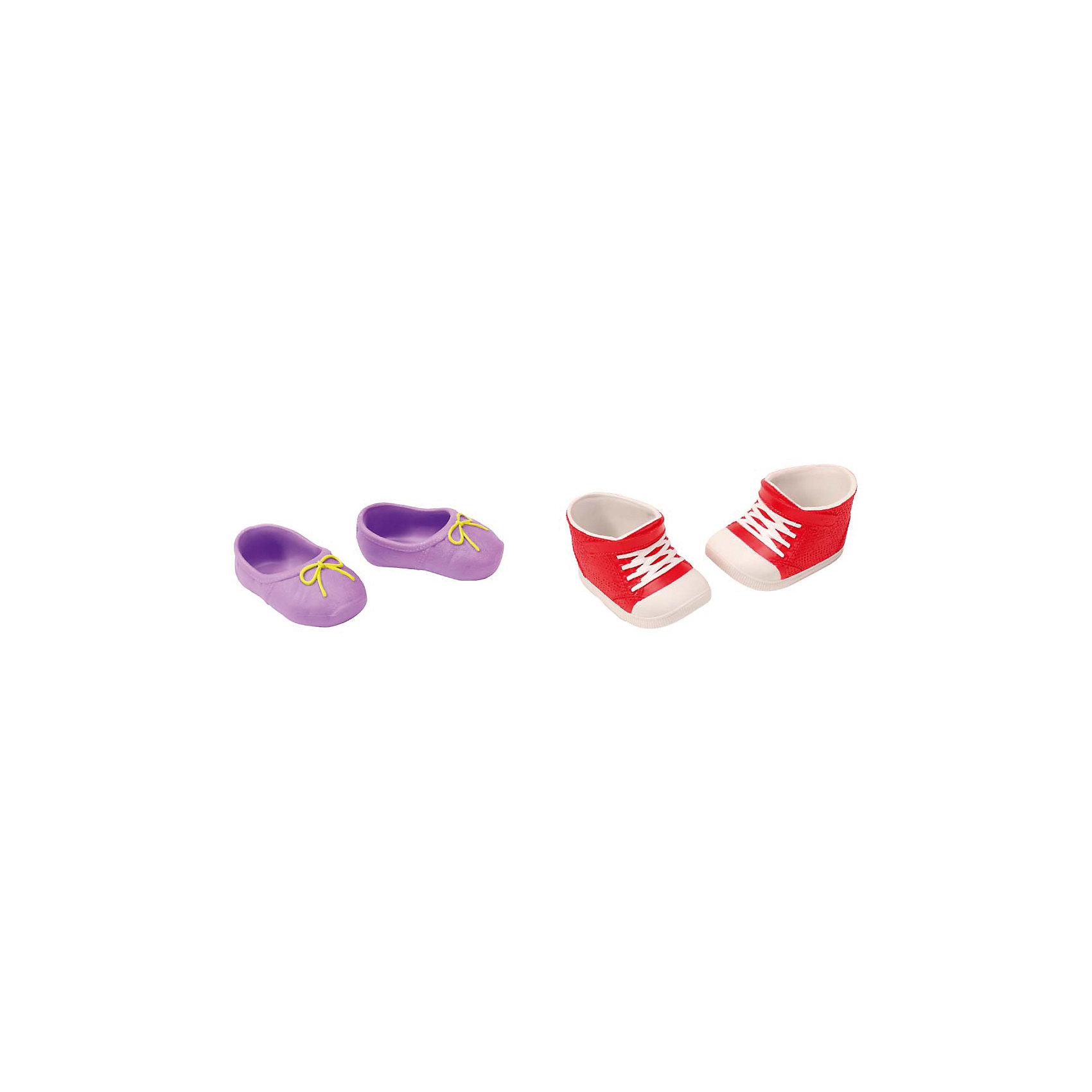 Ботиночки, 2 пары (для куклы), BABY born, красный-фиолетовыйБренды кукол<br>Набор обуви для куклы Бэби Бон (Baby Born) от компании Zapf Creation. Яркие, стильные ботиночки, кроссовки и сандалии украсят кукольный гардероб. Как и все игрушки и аксессуары Беби Борн, обувь выполнена очень качественно, с использованием только безопасных материалов и красок. В ассортименте 4 различных набора, по 2 пары обуви в каждом. Наборы продаются отдельно.<br><br>Ширина мм: 219<br>Глубина мм: 179<br>Высота мм: 38<br>Вес г: 78<br>Возраст от месяцев: 36<br>Возраст до месяцев: 60<br>Пол: Женский<br>Возраст: Детский<br>SKU: 4829118