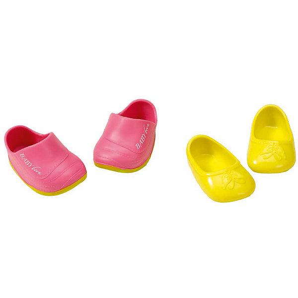 Ботиночки, 2 пары (для куклы), BABY born, желтые-розовыеОдежда для кукол<br>Набор обуви для куклы Бэби Бон (Baby Born) от компании Zapf Creation. Яркие, стильные ботиночки, кроссовки и сандалии украсят кукольный гардероб. Как и все игрушки и аксессуары Беби Борн, обувь выполнена очень качественно, с использованием только безопасных материалов и красок. <br>Цвет: Желтый-розовый<br>Ширина мм: 219; Глубина мм: 179; Высота мм: 38; Вес г: 78; Возраст от месяцев: 36; Возраст до месяцев: 60; Пол: Женский; Возраст: Детский; SKU: 4829119;