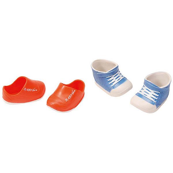 Ботиночки, 2 пары (для куклы), BABY born, синие-оранжевые
