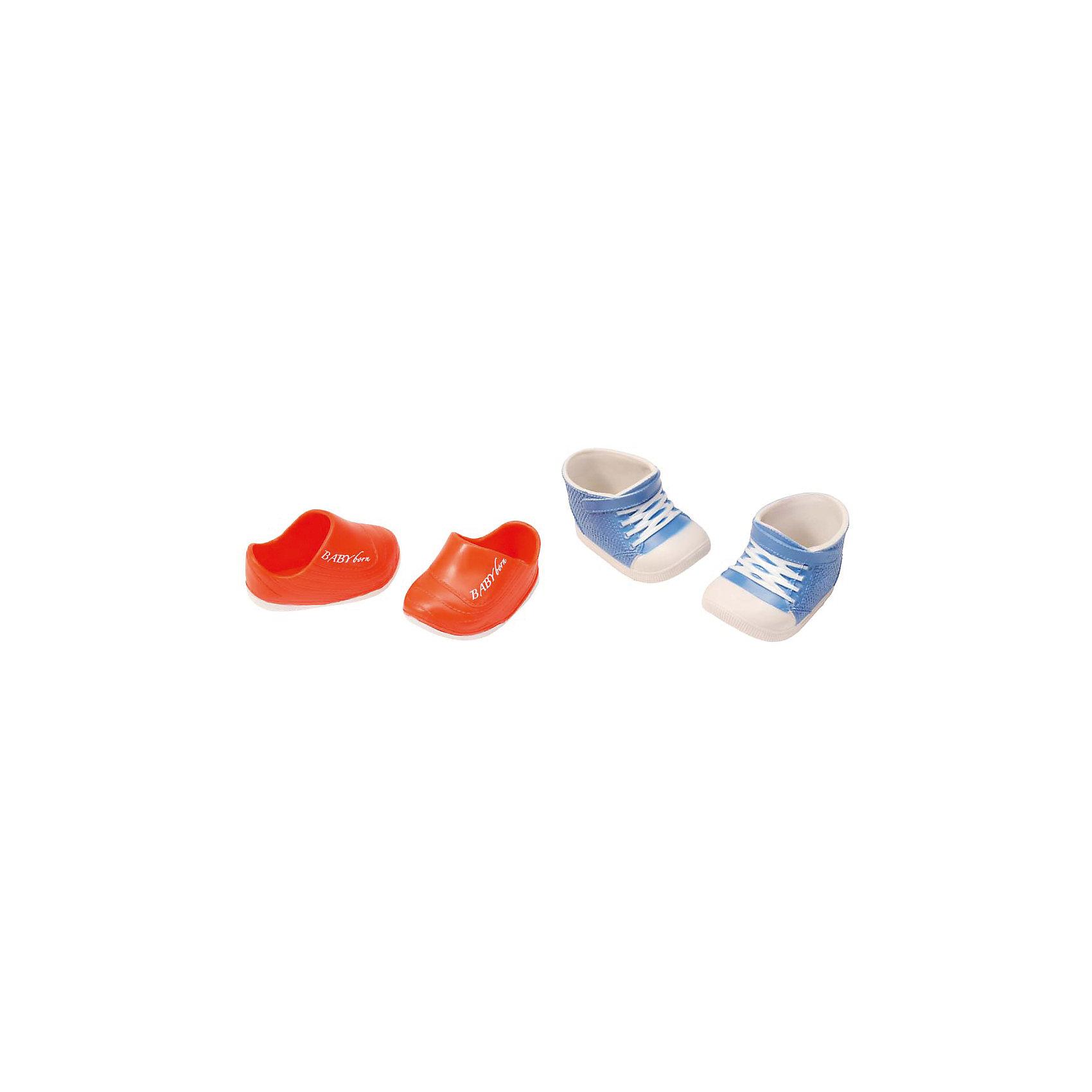 Ботиночки, 2 пары (для куклы), BABY born, синий-оранжевыйБренды кукол<br>Набор обуви для куклы Бэби Бон (Baby Born) от компании Zapf Creation. Яркие, стильные ботиночки, кроссовки и сандалии украсят кукольный гардероб. Как и все игрушки и аксессуары Беби Борн, обувь выполнена очень качественно, с использованием только безопасных материалов и красок. В ассортименте 4 различных набора, по 2 пары обуви в каждом. Наборы продаются отдельно.<br><br>Ширина мм: 219<br>Глубина мм: 179<br>Высота мм: 38<br>Вес г: 78<br>Возраст от месяцев: 36<br>Возраст до месяцев: 60<br>Пол: Женский<br>Возраст: Детский<br>SKU: 4829120