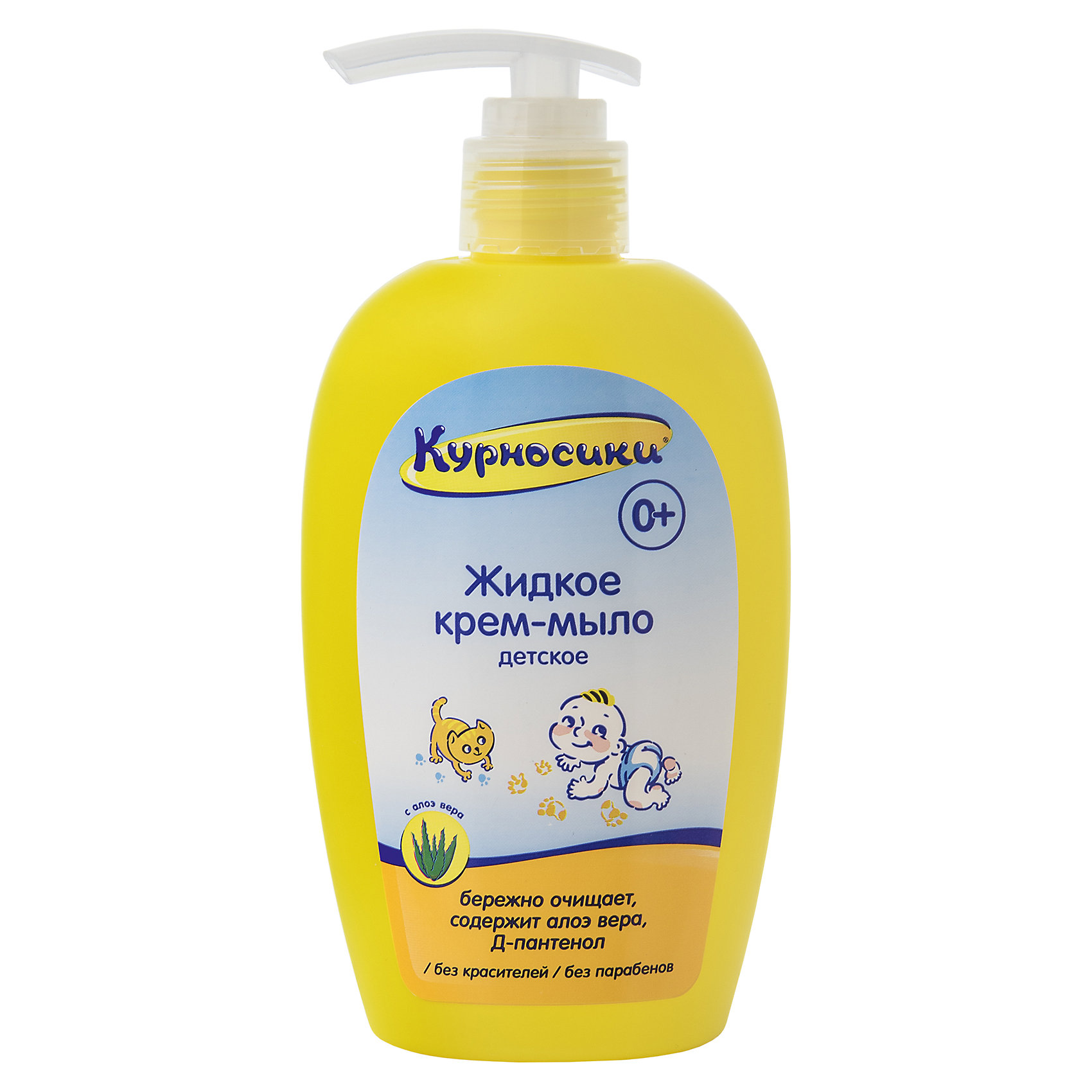 Жидкое крем-мыло детское с алоэ-вера, 250 мл, KurnosikiДетское мыло<br>Жидкое крем-мыло детское с алоэ-вера, 250 мл, Kurnosiki - предназначено для ежедневной гигиены малыша с самого рождения.<br>Жидкое крем-мыло детское Kurnosiki предназначено для бережного ухода за чувствительной кожей малышей с первых дней жизни. Экстракт алоэ вера оказывающее благоприятное воздействие на кожу малыша: устраняет покраснения и раздражения; интенсивно увлажняет. Д-пантенол обладает смягчающим и восстанавливающим действием. Жидкое крем-мыло детское Kurnosiki идеально подходит для ежедневного применения.<br><br>Дополнительная информация:<br><br>- Объем: 250 мл.<br>- Активные компоненты: экстракт алоэ-вера, Д-пантенол<br>- Не содержит парабены, красители<br>- Упаковка: флакон<br><br>Жидкое крем-мыло детское с алоэ-вера, 250 мл, Kurnosiki можно купить в нашем интернет-магазине.<br><br>Ширина мм: 80<br>Глубина мм: 40<br>Высота мм: 170<br>Вес г: 304<br>Возраст от месяцев: 0<br>Возраст до месяцев: 36<br>Пол: Унисекс<br>Возраст: Детский<br>SKU: 4830230