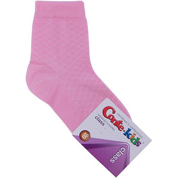 Носки для девочки Conte-kidsНоски<br>Детские носки известной марки Conte-kids.<br>- Мягкие,  эластичные,  удобные и практичные.<br>- От белорусского производителя. <br>- Для девочек и мальчиков. <br><br>Состав: 50% - хлопок, 47,2% - полиамид, 2,8% - эластан.<br>Ширина мм: 87; Глубина мм: 10; Высота мм: 105; Вес г: 115; Цвет: розовый; Возраст от месяцев: 84; Возраст до месяцев: 108; Пол: Женский; Возраст: Детский; Размер: 20; SKU: 4830291;