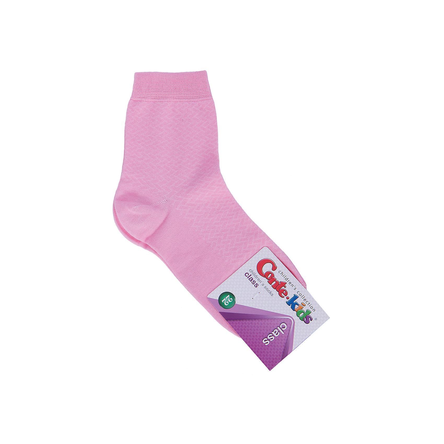 Носки для девочки Conte-kidsНоски<br>Детские носки известной марки Conte-kids.<br>- Мягкие,  эластичные,  удобные и практичные.<br>- От белорусского производителя. <br>- Для девочек и мальчиков. <br><br>Состав: 50% - хлопок, 47,2% - полиамид, 2,8% - эластан.<br><br>Ширина мм: 87<br>Глубина мм: 10<br>Высота мм: 105<br>Вес г: 115<br>Цвет: розовый<br>Возраст от месяцев: 96<br>Возраст до месяцев: 108<br>Пол: Женский<br>Возраст: Детский<br>Размер: 22<br>SKU: 4830292
