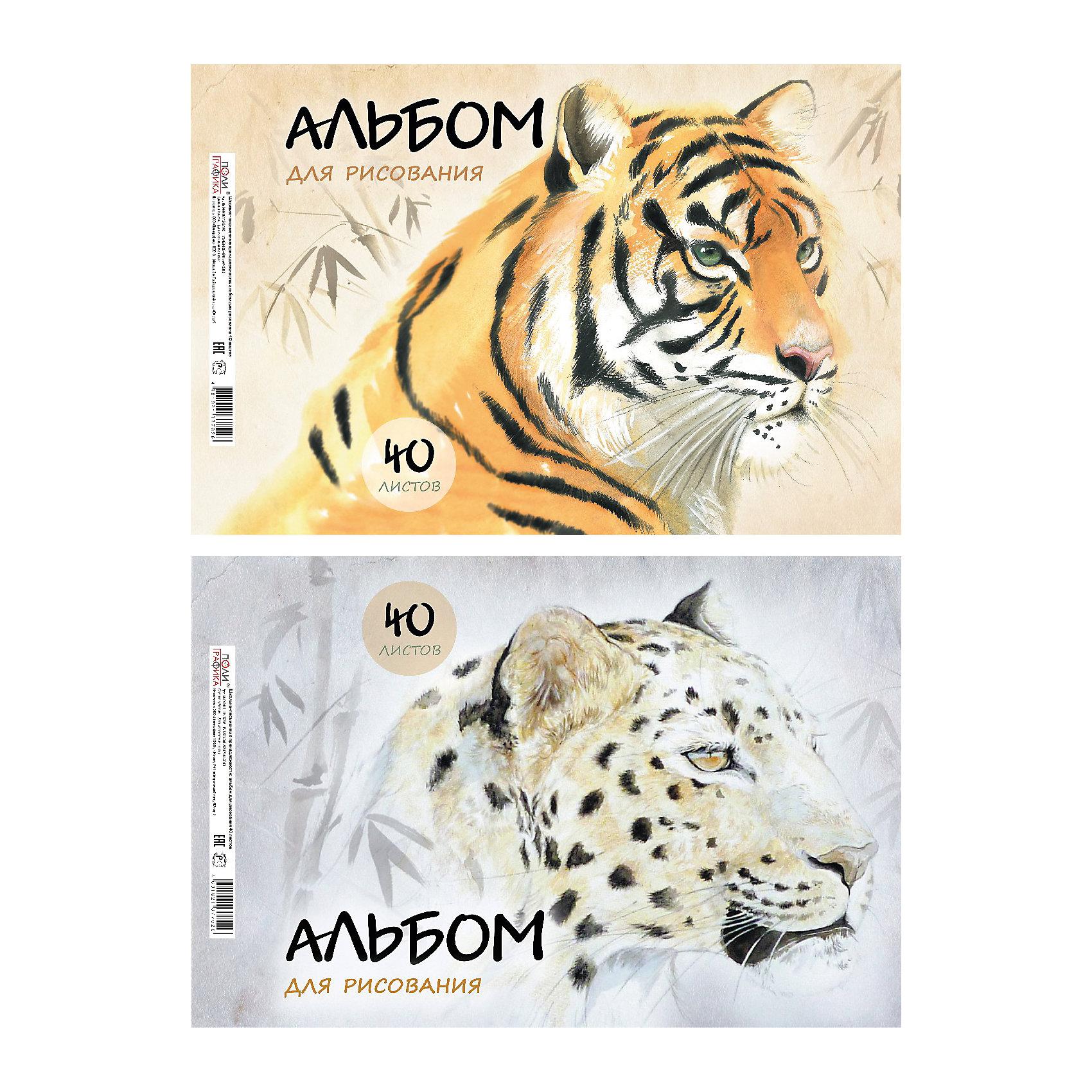 Альбом для рисования Wild Cats, А4, 40 л.<br><br>Ширина мм: 299<br>Глубина мм: 210<br>Высота мм: 7<br>Вес г: 350<br>Возраст от месяцев: 36<br>Возраст до месяцев: 2147483647<br>Пол: Унисекс<br>Возраст: Детский<br>SKU: 4833192