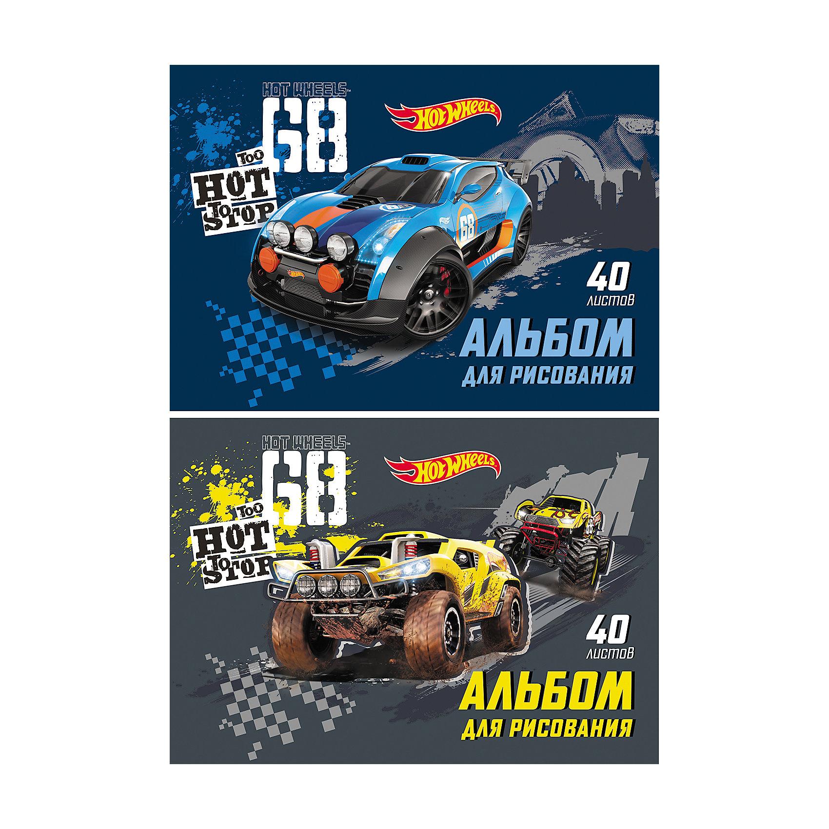 ErichKrause Альбом для рисования Hot Wheels Racing, А4, 40 л. racing wheels h 480 7 0 r16 4x114 3 et40 0 d67 1