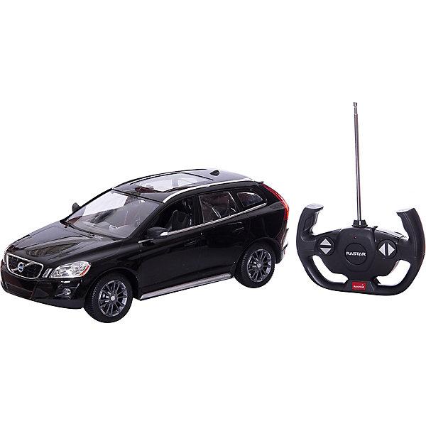 RASTAR Радиоуправляемая машина Volvo XC60 1:14, чернаяМашинки<br>RASTAR Радиоуправляемая машина Volvo XC60 1:14 - игрушка, которая наверняка приведет в восторг юного любителя  взрослых автомобилей: эта радиоуправляемая машина - уменьшенная копия настоящей Volvo! <br><br>Модель выполнена в масштабе 1: 14.<br><br>Особенности игрушки:<br><br>- Работает на частоте: 27MHz; <br>- Движение вперед, назад, вправо, влево; <br>- Контроль управления: 15 - 45 метров; <br>- Развивает скорость до: 7 км/ч; <br>- Светятся фары. <br><br><br>Дополнительная информация:<br><br><br>- Для работы требуются батарейки: 5 Х АА, 6F/22<br>(не входят в комплект).<br>- Размер упаковки: 45,5 х 21,5 х 19,5 см.<br>- Вес: 1,38 кг.<br><br>Ширина мм: 195<br>Глубина мм: 455<br>Высота мм: 215<br>Вес г: 1380<br>Возраст от месяцев: 72<br>Возраст до месяцев: 144<br>Пол: Мужской<br>Возраст: Детский<br>SKU: 4833560