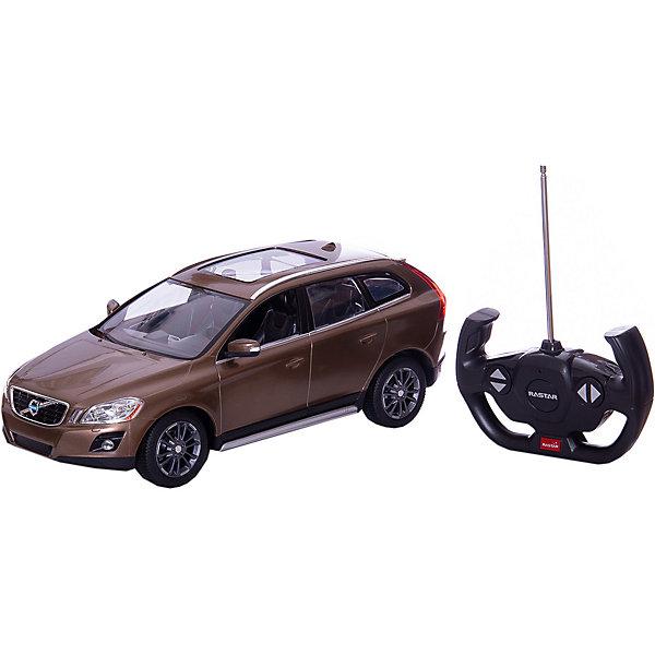 RASTAR Радиоуправляемая машина Volvo XC60 1:14, коричневаяРадиоуправляемые машины<br>RASTAR Радиоуправляемая машина Volvo XC60 1:14 - игрушка, которая наверняка приведет в восторг юного любителя  взрослых автомобилей: эта радиоуправляемая машина - уменьшенная копия настоящей Volvo! <br><br>Модель выполнена в масштабе 1: 14.<br><br>Особенности игрушки:<br><br>- Работает на частоте: 27MHz; <br>- Движение вперед, назад, вправо, влево; <br>- Контроль управления: 15 - 45 метров; <br>- Развивает скорость до: 7 км/ч; <br>- Светятся фары. <br><br><br>Дополнительная информация:<br><br><br>- Для работы требуются батарейки: 5 Х АА, 6F/22<br>(не входят в комплект).<br>- Размер упаковки: 45,5 х 21,5 х 19,5 см.<br>- Вес: 1,38 кг.<br>Ширина мм: 195; Глубина мм: 455; Высота мм: 215; Вес г: 1380; Возраст от месяцев: 72; Возраст до месяцев: 144; Пол: Мужской; Возраст: Детский; SKU: 4833561;