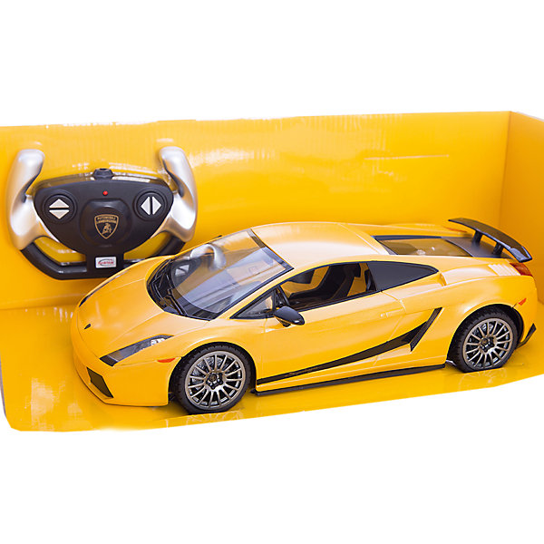 RASTAR Радиоуправляемая машина Lamborghini 1:14, желтаяРадиоуправляемые машины<br>RASTAR Радиоуправляемая машина Lamborghini 1:14 - игрушка, которая наверняка приведет в восторг юного любителя  взрослых автомобилей: эта радиоуправляемая машина - уменьшенная копия настоящего Lamborghini! <br><br>Модель выполнена в масштабе 1: 14.<br><br>Особенности игрушки:<br><br>- Работает на частоте: 27MHz; <br>- Движение вперед, назад, вправо, влево; <br>- Контроль управления: 15 - 45 метров; <br>- Развивает скорость до: 7 км/ч; <br>- Светятся фары. <br><br><br>Дополнительная информация:<br><br><br>- Для работы требуются батарейки: 5 Х АА, 6F/22<br>(не входят в комплект).<br>- Материалы: пластмасса, металл.<br>- Размер: 30,7 х 13,6 х 8,5 см.<br>- Размер упаковки: 43 х 22,5 х 17,5 см.<br>- Вес: 1,16 кг.<br><br>Ширина мм: 175<br>Глубина мм: 430<br>Высота мм: 225<br>Вес г: 1160<br>Возраст от месяцев: 72<br>Возраст до месяцев: 144<br>Пол: Мужской<br>Возраст: Детский<br>SKU: 4833562