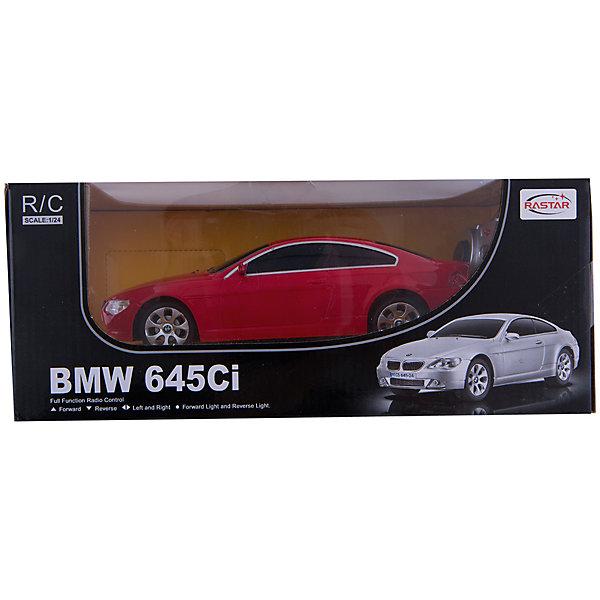 RASTAR Радиоуправляемая машина BMW 645Ci 1:24, краснаяРадиоуправляемые машины<br>RASTAR Радиоуправляемая машина BMW 645Ci 1:24 - игрушка, которая наверняка приведет в восторг вашего ребенка, ведь эта радиоуправляемая машина - уменьшенная копия настоящего БМВ! <br><br>Модель выполнена в масштабе 1: 24.<br><br>Особенности игрушки:<br><br>- Работает на частоте: 27MHz; <br>- Движение вперед, назад, вправо, влево; <br>- Контроль управления: 15 - 45 метров; <br>- Развивает скорость до: 7 км/ч; <br>- Светятся фары. <br><br><br>Дополнительная информация:<br><br>- Для работы требуются батарейки: 5 Х АА (не входят в комплект).<br>- Материалы: пластик.<br>- Размер упаковки: 28,5х12х10 см.<br>- Вес: 460 г.<br><br>Ширина мм: 100<br>Глубина мм: 385<br>Высота мм: 120<br>Вес г: 460<br>Возраст от месяцев: 72<br>Возраст до месяцев: 144<br>Пол: Мужской<br>Возраст: Детский<br>SKU: 4833564