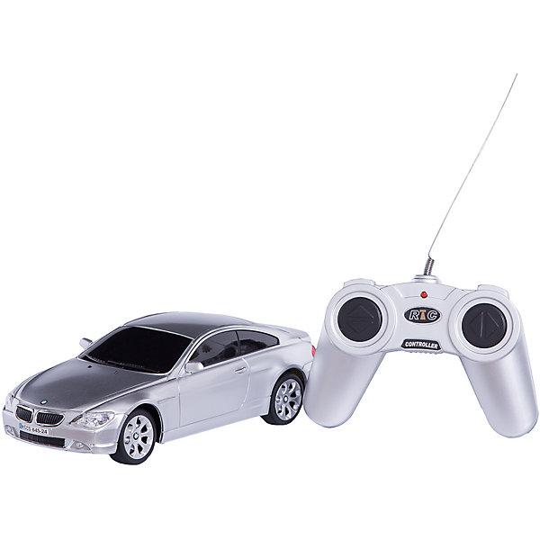 RASTAR Радиоуправляемая машина BMW 645Ci 1:24, серебристаяРадиоуправляемые машины<br>RASTAR Радиоуправляемая машина BMW 645Ci 1:24 - игрушка, которая наверняка приведет в восторг вашего ребенка, ведь эта радиоуправляемая машина - уменьшенная копия настоящего БМВ! <br><br>Модель выполнена в масштабе 1: 24.<br><br>Особенности игрушки:<br><br>- Работает на частоте: 27MHz; <br>- Движение вперед, назад, вправо, влево; <br>- Контроль управления: 15 - 45 метров; <br>- Развивает скорость до: 7 км/ч; <br>- Светятся фары. <br><br><br>Дополнительная информация:<br><br>- Для работы требуются батарейки: 5 Х АА (не входят в комплект).<br>- Материалы: пластик.<br>- Размер упаковки: 28,5х12х10 см.<br>- Вес: 460 г.<br><br>Ширина мм: 100<br>Глубина мм: 385<br>Высота мм: 120<br>Вес г: 460<br>Возраст от месяцев: 72<br>Возраст до месяцев: 144<br>Пол: Мужской<br>Возраст: Детский<br>SKU: 4833565
