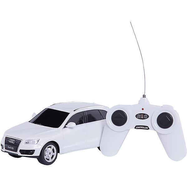 RASTAR Радиоуправляемая машина AUDI Q5 1:24, белаяРадиоуправляемые машины<br>RASTAR Радиоуправляемая машина AUDI Q5 1:24 - игрушка, которая наверняка приведет в восторг юного любителя настоящих, взрослых автомобилей: эта радиоуправляемая машина - уменьшенная копия настоящей AUDI Q5! <br><br>Модель выполнена в масштабе 1: 24.<br><br>Особенности игрушки:<br><br>- Работает на частоте: 27MHz; <br>- Движение вперед, назад, вправо, влево; <br>- Контроль управления: 15 - 45 метров; <br>- Развивает скорость до: 7 км/ч; <br>- Светятся фары. <br><br><br>Дополнительная информация:<br><br><br><br>- Для работы требуются батарейки: 5 Х АА (не входят в комплект).<br>- Материалы: пластмасса, металл.<br>- Размер упаковки: 28,5х14х12 см.<br>- Вес: 410 г.<br>Ширина мм: 285; Глубина мм: 140; Высота мм: 120; Вес г: 410; Возраст от месяцев: 72; Возраст до месяцев: 144; Пол: Мужской; Возраст: Детский; SKU: 4833566;