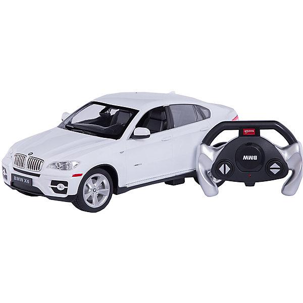 RASTAR Радиоуправляемая машина BMW X6 1:14, белаяРадиоуправляемые машины<br>RASTAR Радиоуправляемая машина BMW X6 1:14 - игрушка, которая наверняка приведет в восторг вашего ребенка, ведь эта радиоуправляемая машина - уменьшенная копия настоящего БМВ! <br><br>Модель выполнена в масштабе 1: 14.<br><br>Особенности игрушки:<br><br>- Работает на частоте: 27MHz; <br>- Движение вперед, назад, вправо, влево; <br>- Контроль управления: 15 - 45 метров; <br>- Развивает скорость до: 7 км/ч; <br>- Светятся фары. <br><br><br>Дополнительная информация:<br><br>- Для работы требуются батарейки: 5 Х АА (не входят в комплект).<br>- Материалы: пластик.<br>- Размер упаковки: 43х21,5х19,5 см.<br>- Вес: 1330 г.<br>Ширина мм: 195; Глубина мм: 455; Высота мм: 215; Вес г: 1360; Возраст от месяцев: 72; Возраст до месяцев: 144; Пол: Мужской; Возраст: Детский; SKU: 4833568;