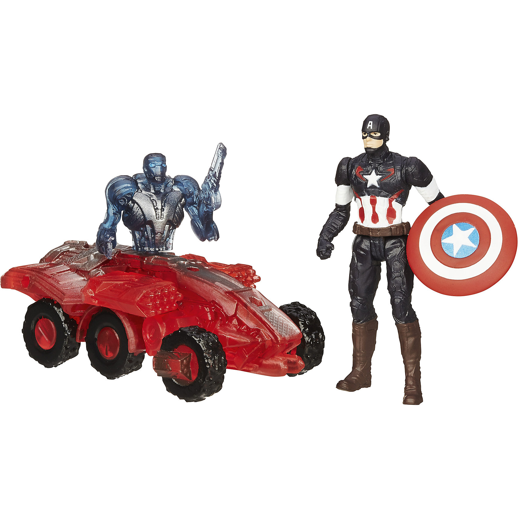 Мини-фигурки Мстителей, Marvel Heroes, B0423/B1483Игрушки<br>Мини-фигурки Мстителей, Marvel Heroes, B0423/B1483.<br><br>Характеристики:<br><br>- В комплекте: фигурка Капитана Америки, разборная фигурка дрона Альтрона 002<br>- Размер фигурки Капитана Америки: 6 см.<br>- Материал: высококачественный пластик<br>- Размер упаковки: 4,4 x16 x 14 см.<br><br>Набор «Мини-фигурки Мстителей, Marvel Heroes» от Hasbro непременно привлечет внимание вашего ребенка и не позволит ему скучать. В наборе имеется качественная фигурка Капитана Америки в новейшем дизайне. Ему противостоит дрон Альтрона под номером 002. Этот устрашающий киборг выглядит как наполовину робот с человеческим торсом, наполовину бронированная машина с пушками. Фигурки подвижные. Они имеют по 5 точек артикуляции. Фигурку дрона можно разобрать по частям. Набор приурочен к фильму «Эра Альтрона», в котором рассказывается о новейших приключениях «Мстителей» и их борьбе против коварного искусственного интеллекта Альтрона.<br><br>Мини-фигурки Мстителей, Marvel Heroes, B0423/B1483 можно купить в нашем интернет-магазине.<br><br>Ширина мм: 159<br>Глубина мм: 44<br>Высота мм: 140<br>Вес г: 979<br>Возраст от месяцев: 48<br>Возраст до месяцев: 144<br>Пол: Мужской<br>Возраст: Детский<br>SKU: 4833570