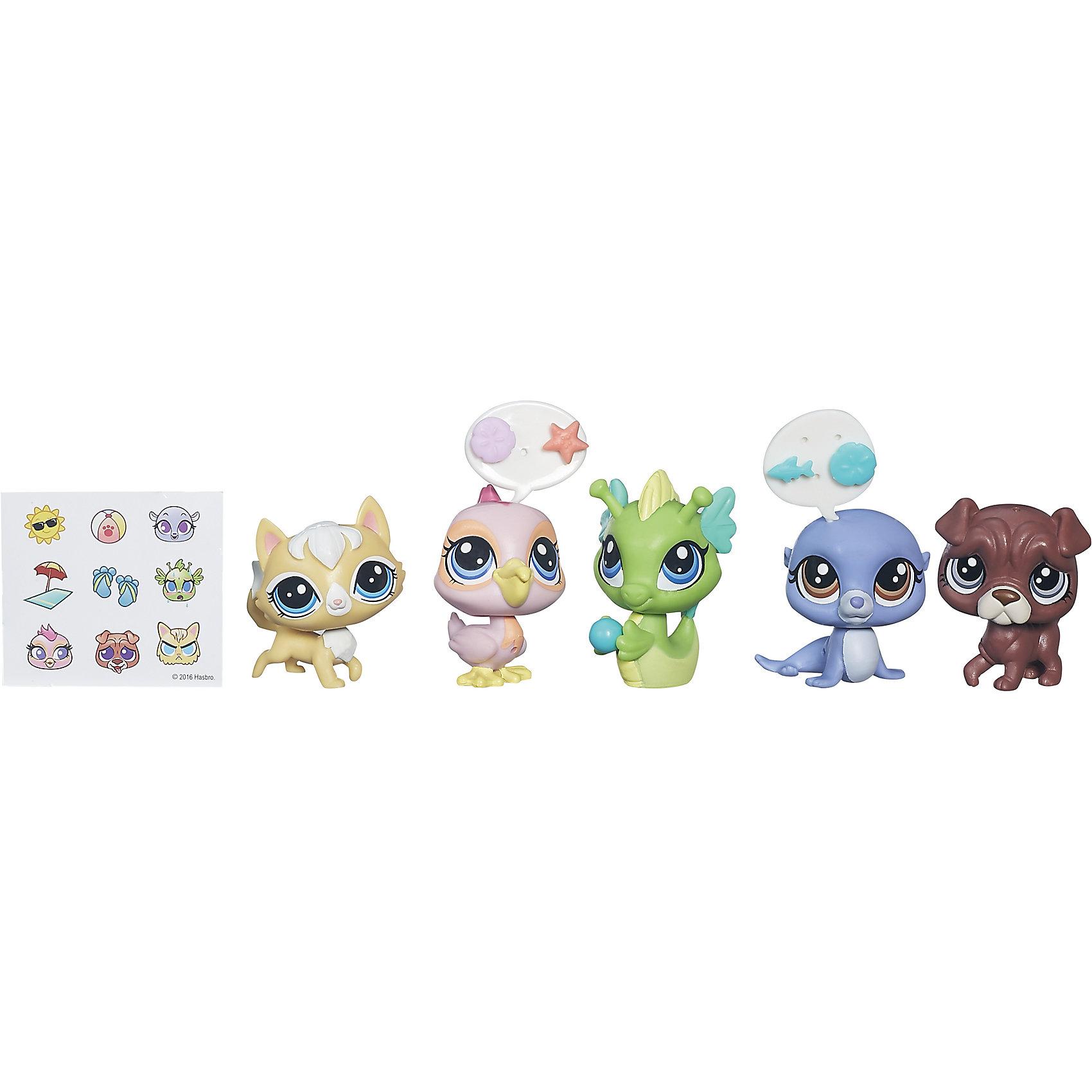 Hasbro Мульти-набор зверюшек, Littlest Pet Shop, B5004/B0282 игровые наборы littlest pet shop стильный зоомагазин