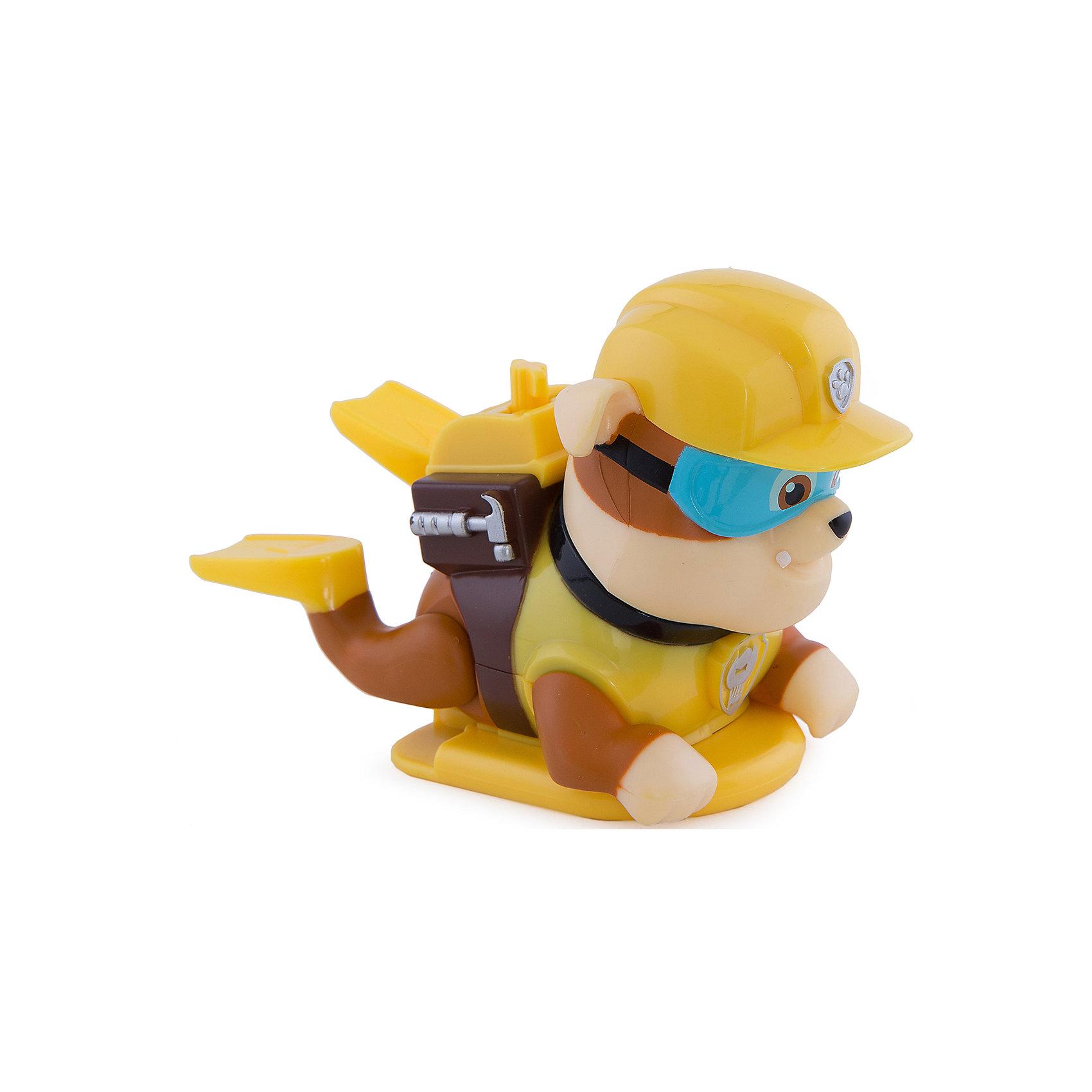 Игрушка для ванной заводная Крепыш, Щенячий патруль, Spin MasterМалыши обожают купаться и играть в ванной. С забавными щенками-спасателями игры будут еще увлекательнее и веселее! Поверни рычаг, заведи механизм и наблюдай, как щенки-спасатели учатся плавать! Фигурки щенков выполнены из высококачественного нетоксичного пластика, прекрасно детализированы и реалистично раскрашены, очень похожи на героев мультсериала Paw Patrol .  Дополнительная информация:  - Материал: пластик. - Размер: 10-15 см. - Подвижные конечности. - Заводные игрушки. Игрушку для ванной заводную, Щенячий патруль, Spin Master (Спин Мастер) можно купить в нашем магазине.<br><br>Ширина мм: 80<br>Глубина мм: 130<br>Высота мм: 60<br>Вес г: 183<br>Возраст от месяцев: 36<br>Возраст до месяцев: 84<br>Пол: Мужской<br>Возраст: Детский<br>SKU: 4836013