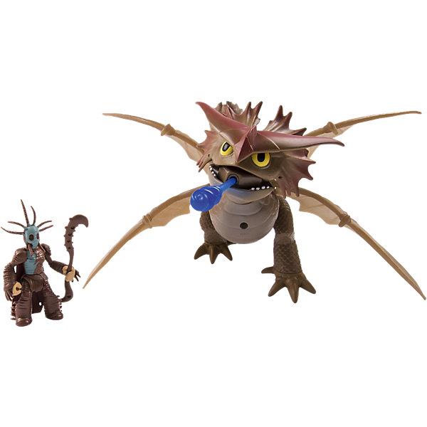 Большой дракон и всадник, Dragons, 66601/20068598Коллекционные и игровые фигурки<br>Потрясающий красочный игровой набор Большой дракон и всадник, Dragons (Драконы), в ассортименте включает в себя фигурку дракона и его всадника, а также аксессуары в виде оружия и обмундирования. Дизайн фигурок полностью повторяет внешний вид любимых персонажей мультфильма. Дракон с подвижными крыльями, пасть открывается и закрывается. Фигурка всадника-викинга с подвижными конечностями и съемным оружием и шлемом (например, у Иккинга есть его огненный меч, а у Валки – посох).  Комплектация: фигурка дракона, фигурка всадника, аксессуары героев  Дополнительная информация: -Серия: Как приручить дракона 2 -Материалы: пластик -Размеры в упаковке: 29x13x27 см -Вес в упаковке: 500 г  Cобери всю коллекцию героев и придумывай собственные приключения отважных викингов и их питомцев!  Большой дракон и всадник, Dragons (Драконы) можно купить в нашем магазине.<br><br>Ширина мм: 264<br>Глубина мм: 292<br>Высота мм: 133<br>Вес г: 540<br>Возраст от месяцев: 36<br>Возраст до месяцев: 84<br>Пол: Мужской<br>Возраст: Детский<br>SKU: 4836014