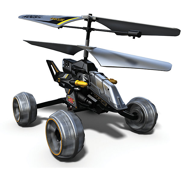 Машина - вертолет AIR HOGS, 44404/ЧерныйСамолёты и вертолёты<br>Машина - вертолет AIR HOGS на инфракрасном управлении - игрушка, которая обязательно понравится Вашему ребенку!  Машина-вертолет - один из достойнейших представителей игрушек линейки Air Hogs.  Главное отличие этой модели от прочих – ее универсальность. Эта игрушка - гибрид вертолета и машины!  За счет вращения винтов машина-вертолет может двигаться либо по земле (вперед, влево, вправо), либо летать как настоящий вертолет! При нажатии кнопки на пульте машина-вертолет стреляет ракетами, находясь на земле или в воздухе. Игрушка снабжена микроконтроллером для достижения максимальной точности полета, что позволяет использовать ее не только на открытом воздухе, но и в помещении.  Время зарядки аккумулятора данной модели составляет около тридцати минут, время работы в полетном режиме – примерно пять минут.  Дополнительная информация:  - В комплект входит:  игрушка на и/к управлении. - Питание (Батарейки): ААх6 шт. (не входят в комплект). - Длина игрушки 17 см. - Время зарядки — ~30 минут. - Время работы в режиме полета — ~ 5 минут. Машину - вертолет AIR HOGS можно купить в нашем интернет-магазине.<br><br>Ширина мм: 305<br>Глубина мм: 254<br>Высота мм: 152<br>Вес г: 222<br>Возраст от месяцев: 36<br>Возраст до месяцев: 96<br>Пол: Мужской<br>Возраст: Детский<br>SKU: 4836017