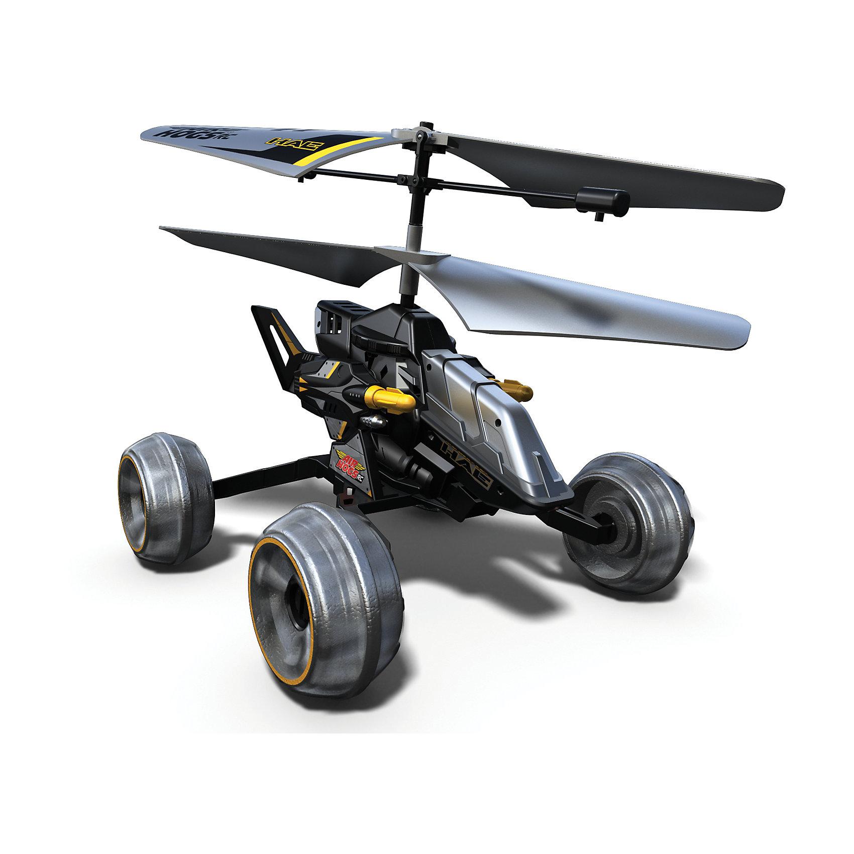 Машина - вертолет AIR HOGS, 44404/ЧерныйМашина - вертолет AIR HOGS на инфракрасном управлении - игрушка, которая обязательно понравится Вашему ребенку!  Машина-вертолет - один из достойнейших представителей игрушек линейки Air Hogs.  Главное отличие этой модели от прочих – ее универсальность. Эта игрушка - гибрид вертолета и машины!  За счет вращения винтов машина-вертолет может двигаться либо по земле (вперед, влево, вправо), либо летать как настоящий вертолет! При нажатии кнопки на пульте машина-вертолет стреляет ракетами, находясь на земле или в воздухе. Игрушка снабжена микроконтроллером для достижения максимальной точности полета, что позволяет использовать ее не только на открытом воздухе, но и в помещении.  Время зарядки аккумулятора данной модели составляет около тридцати минут, время работы в полетном режиме – примерно пять минут.  Дополнительная информация:  - В комплект входит:  игрушка на и/к управлении. - Питание (Батарейки): ААх6 шт. (не входят в комплект). - Длина игрушки 17 см. - Время зарядки — ~30 минут. - Время работы в режиме полета — ~ 5 минут. Машину - вертолет AIR HOGS можно купить в нашем интернет-магазине.<br><br>Ширина мм: 305<br>Глубина мм: 254<br>Высота мм: 152<br>Вес г: 222<br>Возраст от месяцев: 36<br>Возраст до месяцев: 96<br>Пол: Мужской<br>Возраст: Детский<br>SKU: 4836017