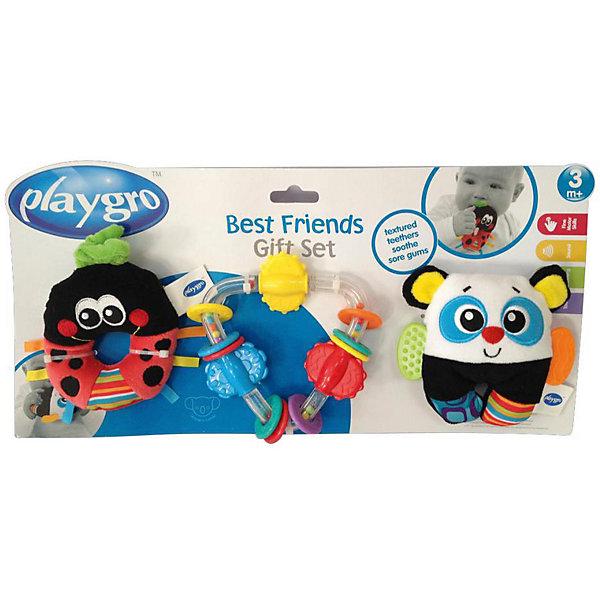 Игровой набор (3 погремушки)Игрушки для новорожденных<br>В игровой набор входит 3 игрушки-погремушки с элементами для прорезывания зубов. Каждая из них несет в себе не только занимательные игры, но и целый комплекс развивающих элементов, они способствуют развитию таких навыков как: моторика, тактильные ощущения, визуальное с слуховое восприятие, причинно-следственные связи.<br><br>Ширина мм: 335<br>Глубина мм: 180<br>Высота мм: 45<br>Вес г: 300<br>Возраст от месяцев: 3<br>Возраст до месяцев: 180<br>Пол: Унисекс<br>Возраст: Детский<br>SKU: 4837596