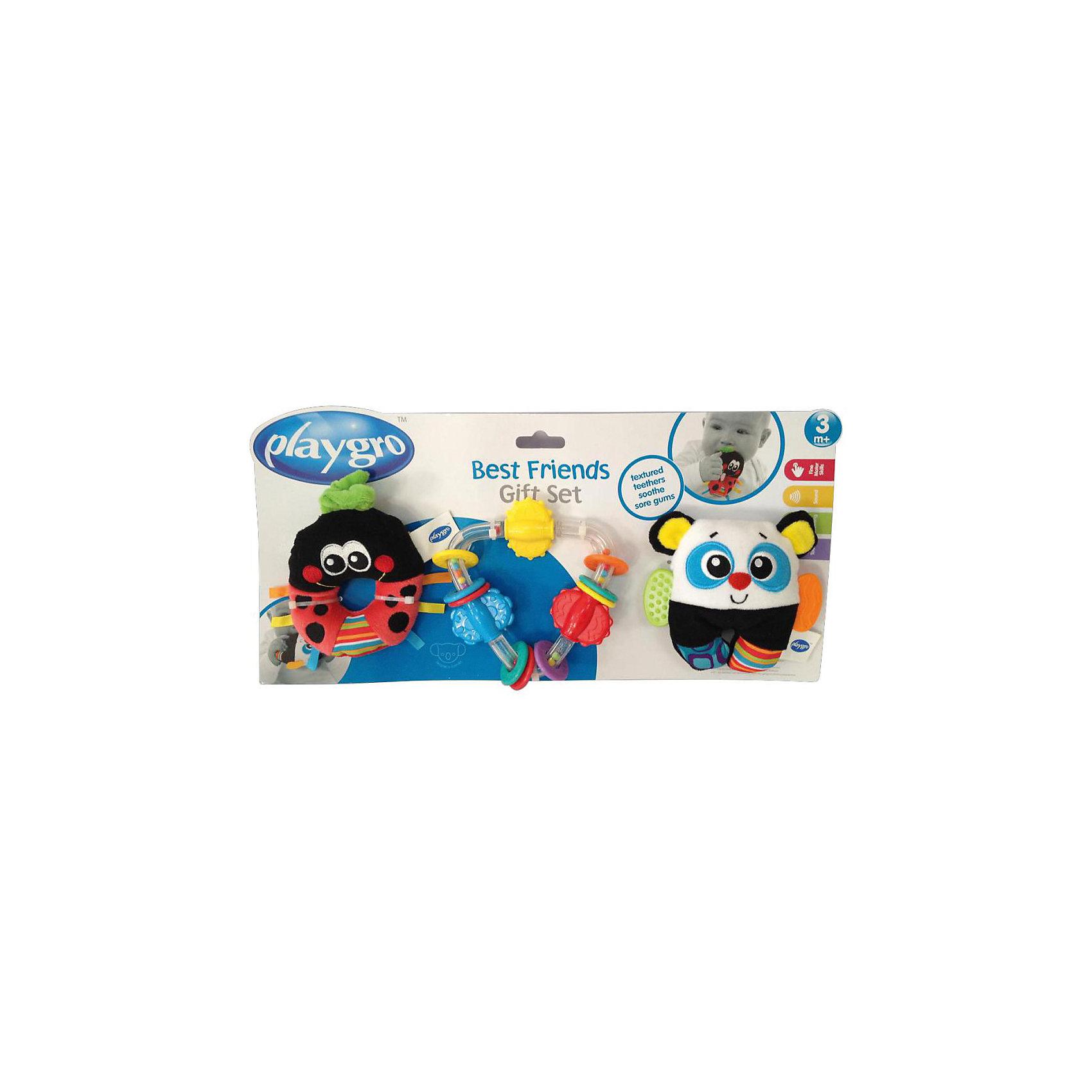 Игровой набор (3 погремушки)Развивающие игрушки<br>В игровой набор входит 3 игрушки-погремушки с элементами для прорезывания зубов. Каждая из них несет в себе не только занимательные игры, но и целый комплекс развивающих элементов, они способствуют развитию таких навыков как: моторика, тактильные ощущения, визуальное с слуховое восприятие, причинно-следственные связи.<br><br>Ширина мм: 335<br>Глубина мм: 180<br>Высота мм: 45<br>Вес г: 300<br>Возраст от месяцев: 3<br>Возраст до месяцев: 180<br>Пол: Унисекс<br>Возраст: Детский<br>SKU: 4837596