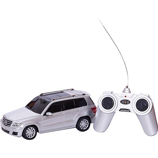 Машина MERCEDES-BENZ GLK, 1:24, р/у, RASTAR, серебристыйРадиоуправляемые машины<br>Машина MERCEDES-BENZ GLK обязательно понравится юным автолюбителям. Она прекрасно детализирована и реалистично раскрашена, быстро ездит, имеет световые эффекты - все это сделает игру  еще более интересной. Прорезиненные колеса обеспечивают надежное сцепление с любой гладкой поверхностью. Машина изготовлена из высококачественного экологичного пластика безопасного для детей.   Дополнительная информация:  - Материал: пластик.  - Размер игрушки: 19х8,5х7 см.  - Масштаб: 1:24. - Световые эффекты. - Максимальная скорость: 7 км/ч. - На пульте ДУ. - Элемент питания: 3 АА батарейки - для машины (не входят в комплект); 2 АА батарейки - для пульта (не входят в комплект) .  Машину MERCEDES-BENZ GLK, 1:24, р/у, RASTAR можно купить в нашем магазине.<br>Ширина мм: 140; Глубина мм: 290; Высота мм: 130; Вес г: 520; Возраст от месяцев: 36; Возраст до месяцев: 144; Пол: Мужской; Возраст: Детский; SKU: 4838259;