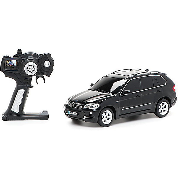 Машина BMW X5, 1:18, со светом, р/у, RASTAR, черныйРадиоуправляемые машины<br>Невероятно стильная и красивая модель, выполненная в масштабе 1:18 приведет в восторг любого мальчишку! Машина прекрасно детализирована, очень похожа на настоящий автомобиль, развивает скорость до 12км/ч. Модель имеет четыре направления движения: вперед, назад, вправо и влево, работающие передние и задние фары, стоп-сигналы, при повороте вправо/влево включаются поворотники, во время движения слышен шум работающего двигателя.   Дополнительная информация:  - Материал: пластик, металл. - Размер: 27,5х10,5х 10,4 см.  - Максимальная скорость 12 км/ч. - Время непрерывной работы: 120 мин. - Масштаб: 1:18. - Комплектация: машинка; пульт управления. - Звуковые и световые эффекты. - Элемент питания: 4 ААА батарейки 1 крона (в комплект не входят). - Дистанция управления: до 15 м Машину BMW X5, 1:18, со светом, р/у, RASTAR можно купить в нашем магазине.<br><br>Ширина мм: 170<br>Глубина мм: 380<br>Высота мм: 150<br>Вес г: 830<br>Возраст от месяцев: 36<br>Возраст до месяцев: 144<br>Пол: Мужской<br>Возраст: Детский<br>SKU: 4838268