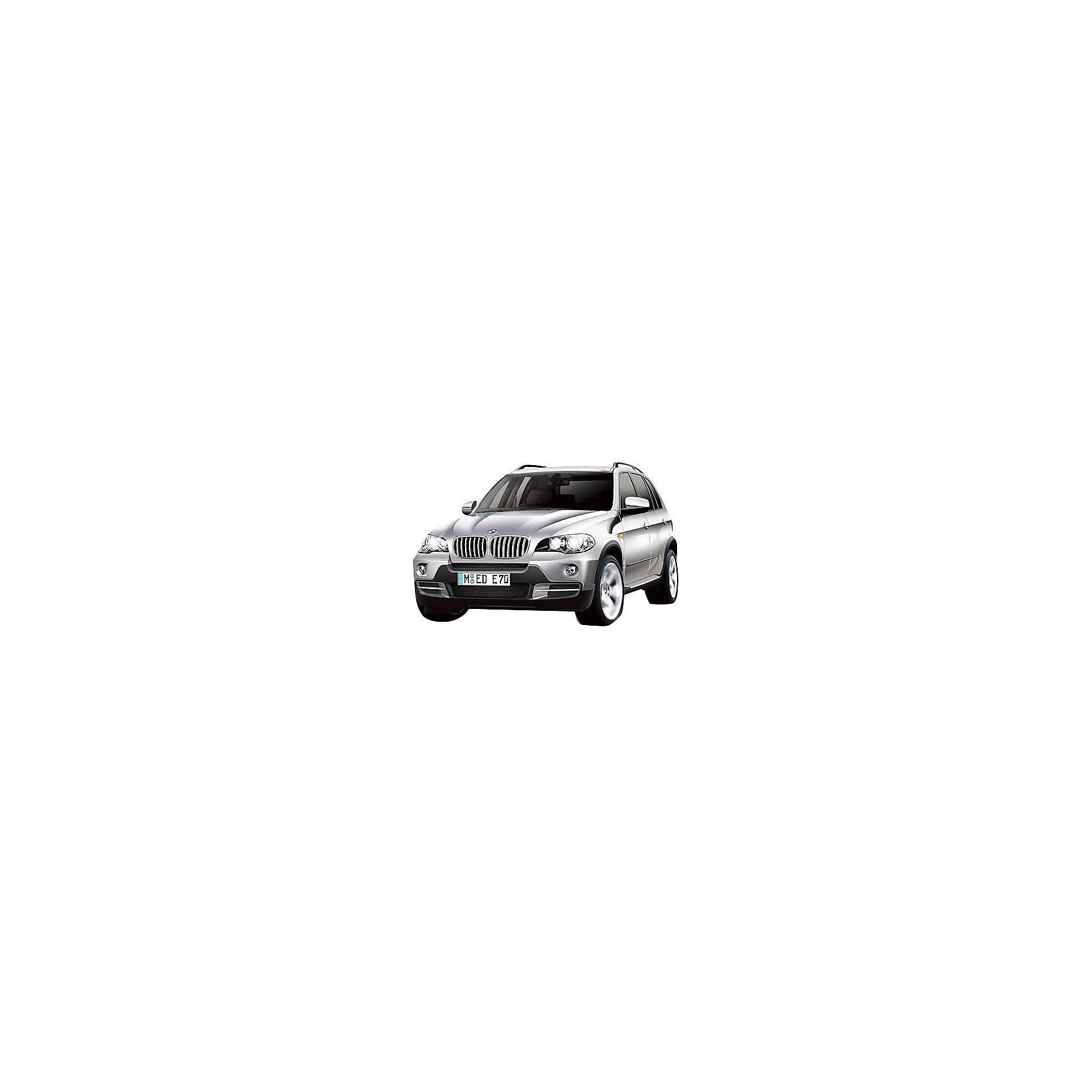 Машина BMW X5, 1:18, со светом, р/у, RASTAR, серебристыйКоллекционные модели<br>Невероятно стильная и красивая модель, выполненная в масштабе 1:18 приведет в восторг любого мальчишку! Машина прекрасно детализирована, очень похожа на настоящий автомобиль, развивает скорость до 12км/ч. Модель имеет четыре направления движения: вперед, назад, вправо и влево, работающие передние и задние фары, стоп-сигналы, при повороте вправо/влево включаются поворотники, во время движения слышен шум работающего двигателя.   Дополнительная информация:  - Материал: пластик, металл. - Размер: 27,5х10,5х 10,4 см.  - Максимальная скорость 12 км/ч. - Время непрерывной работы: 120 мин. - Масштаб: 1:18. - Комплектация: машинка; пульт управления. - Звуковые и световые эффекты. - Элемент питания: 4 ААА батарейки 1 крона (в комплект не входят). - Дистанция управления: до 15 м. - Цвет в ассортименте. ВНИМАНИЕ! Данный артикул представлен в разных цветовых вариантах. К сожалению, заранее выбрать определенный цвет невозможно. При заказе нескольких машин, возможно получение одинаковых.  Машину BMW X5, 1:18, со светом, р/у, RASTAR, в ассортименте, можно купить в нашем магазине.<br><br>Ширина мм: 170<br>Глубина мм: 380<br>Высота мм: 150<br>Вес г: 830<br>Возраст от месяцев: 36<br>Возраст до месяцев: 144<br>Пол: Мужской<br>Возраст: Детский<br>SKU: 4838269