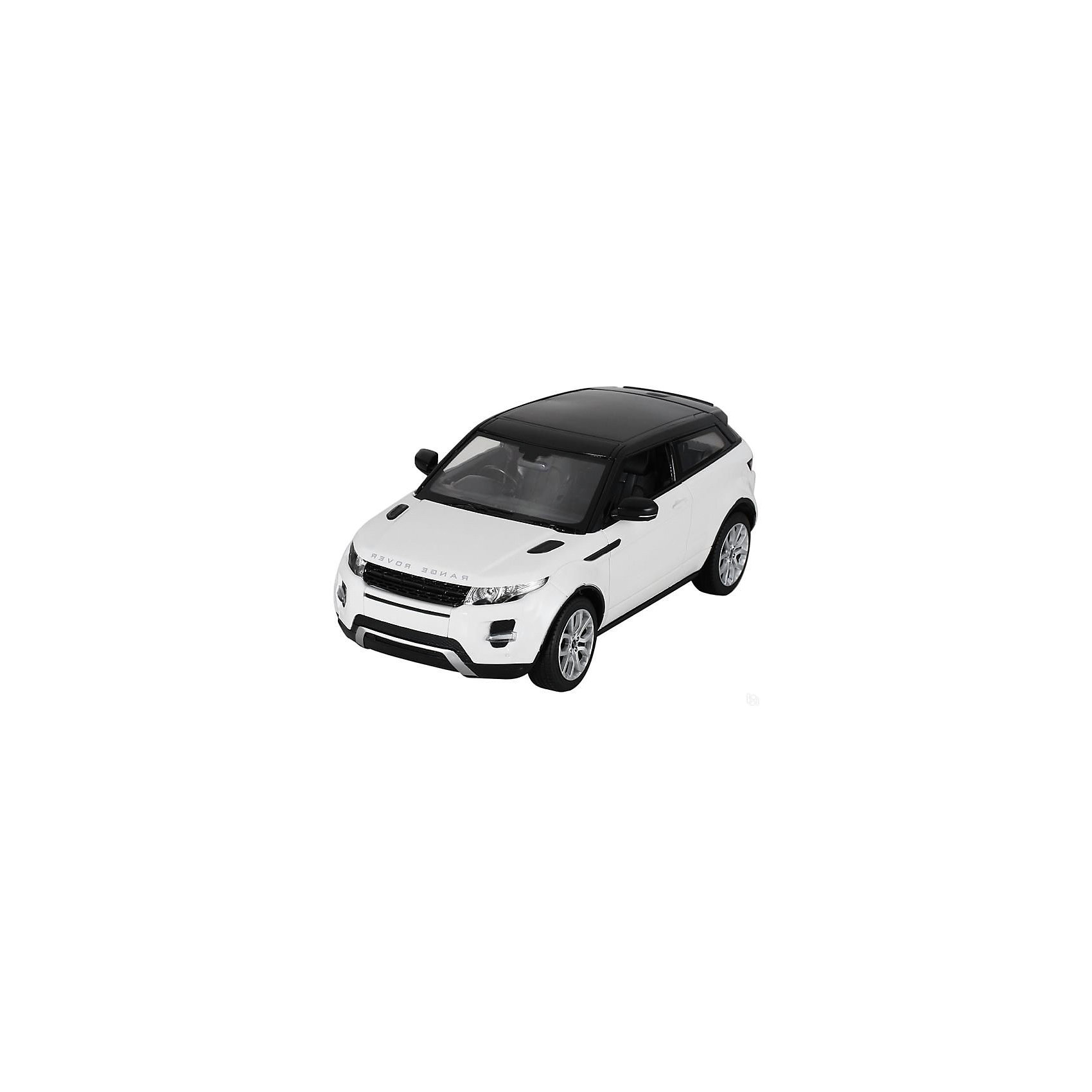 Машина RANGE ROVER EVOQUE, свет, на р/у, RASTAR, белыйКоллекционные модели<br>Range Rover Evoque - превосходный подарок для детей и взрослых любителей Range Rover Evoque, выполненный в масштабе 1:14 Автомобиль может двигаться вперед, назад, влево, вправо со скоростью до 7 км/час. Передние фары и задние фонари, которыми оснащена игрушка, загораются при движении. Дальность управления игрушкой -  15-45 метров  Игрушечные машинки – незаменимый спутник роста и развития мальчиков!  Дополнительная информация:  - Пульт радиоуправления на частоте 27MHz. - Материал: высококачественная пластмасса - Размеры упаковки(ДхШхВ): 23 x 44 x 18 см - Размер игрушки(ДхШхВ): 16,7 х 35,2 х 13,5 см. - Батарейки: 5 х АА, 1 х «Крона», в комплект не входят. - Вес: 1,52 кг ВНИМАНИЕ! Цвет данной игрушки представлен в ассортименте (красный, белый, черный). К сожалению, предварительный выбор определенного цвета невозможен. При заказе нескольких единиц товара возможно получение одинаковых.  Машину RANGE ROVER EVOQUE, свет, на р/у, RASTAR можно купить в нашем интернет-магазине.<br><br>Ширина мм: 180<br>Глубина мм: 230<br>Высота мм: 440<br>Вес г: 1520<br>Возраст от месяцев: 36<br>Возраст до месяцев: 144<br>Пол: Мужской<br>Возраст: Детский<br>SKU: 4838271