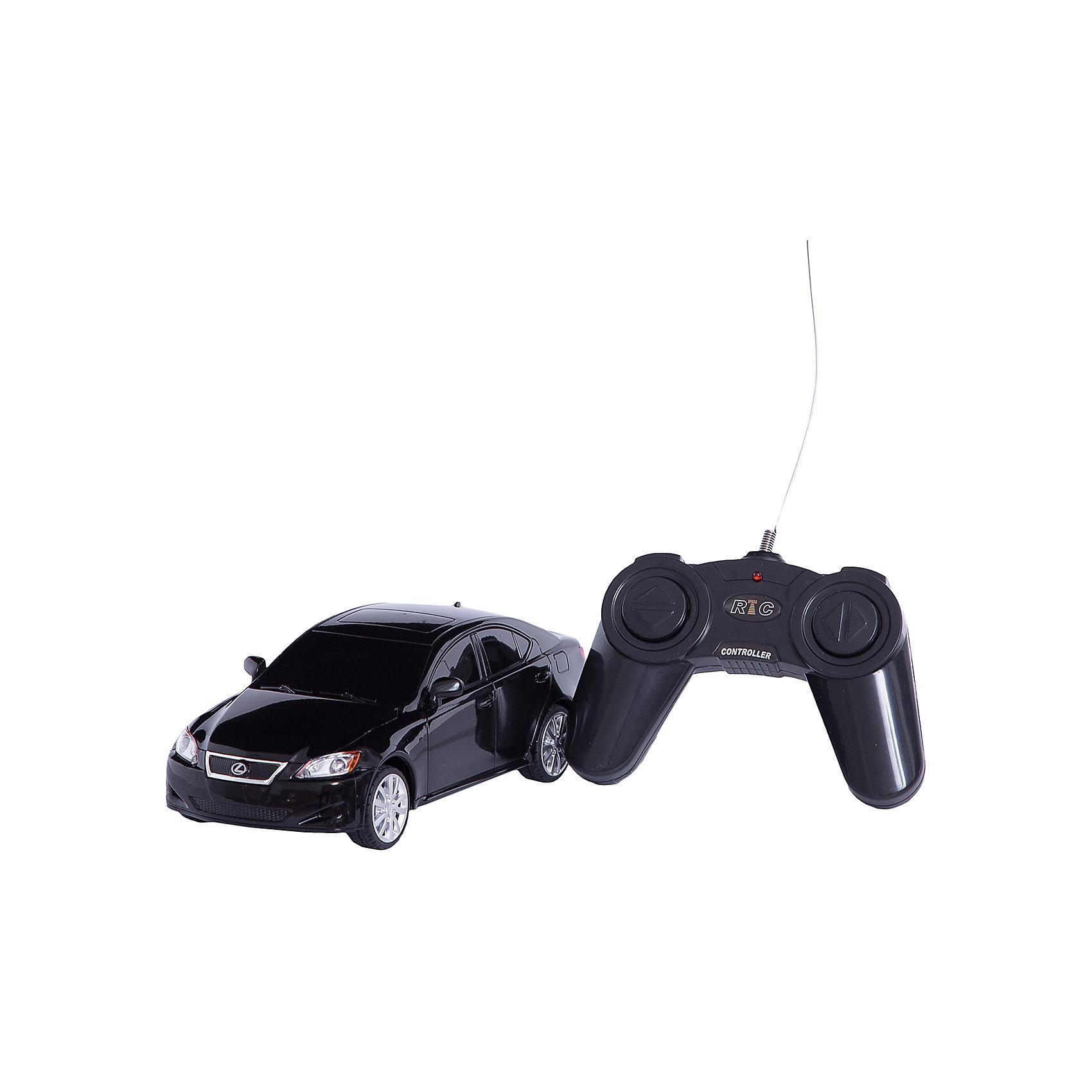 Машина LEXUS IS 350, 1:24, со светом, р/у, RASTAR, черныйКрасивый и стильный автомобиль представительского класса, выполненный в масштабе 1:18 приведет в восторг любого мальчишку! Машина прекрасно детализирована, очень похожа на настоящий автомобиль, развивает скорость до 7 км/ч. Модель имеет четыре направления движения: вперед, назад, вправо и влево, работающие  задние огни и стоп-сигналы.   Дополнительная информация:  - Материал: пластик, металл. - Размер: 19,2 х 8,3 х 6 см.  - Максимальная скорость 7 км/ч. - Время непрерывной работы: 45 мин. - Масштаб: 1:24. - Комплектация: машинка; пульт управления. - Звуковые и световые эффекты. - Элемент питания: 5 ААА батареек, 1 крона (в комплект не входят). - Дистанция управления: до 45 м. Машину LEXUS IS 350, 1:24, со светом, р/у, RASTAR можно купить в нашем магазине.<br><br>Ширина мм: 130<br>Глубина мм: 270<br>Высота мм: 110<br>Вес г: 450<br>Возраст от месяцев: 36<br>Возраст до месяцев: 144<br>Пол: Мужской<br>Возраст: Детский<br>SKU: 4838273