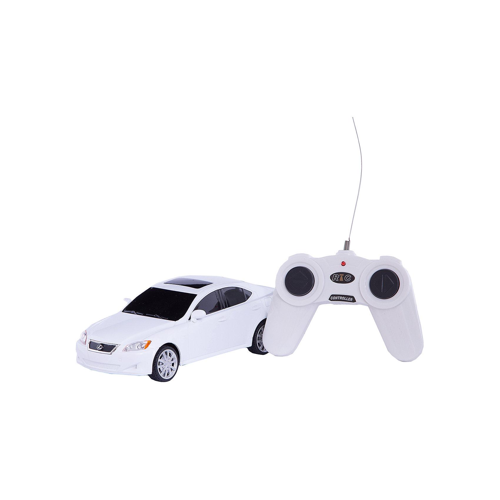 Машина LEXUS IS 350, 1:24, со светом, р/у, RASTAR, белыйКрасивый и стильный автомобиль представительского класса, выполненный в масштабе 1:18 приведет в восторг любого мальчишку! Машина прекрасно детализирована, очень похожа на настоящий автомобиль, развивает скорость до 7 км/ч. Модель имеет четыре направления движения: вперед, назад, вправо и влево, работающие  задние огни и стоп-сигналы.   Дополнительная информация:  - Материал: пластик, металл. - Размер: 19,2 х 8,3 х 6 см.  - Максимальная скорость 7 км/ч. - Время непрерывной работы: 45 мин. - Масштаб: 1:24. - Комплектация: машинка; пульт управления. - Звуковые и световые эффекты. - Элемент питания: 5 ААА батареек, 1 крона (в комплект не входят). - Дистанция управления: до 45 м. Машину LEXUS IS 350, 1:24, со светом, р/у, RASTAR можно купить в нашем магазине.<br><br>Ширина мм: 130<br>Глубина мм: 270<br>Высота мм: 110<br>Вес г: 450<br>Возраст от месяцев: 36<br>Возраст до месяцев: 144<br>Пол: Мужской<br>Возраст: Детский<br>SKU: 4838274