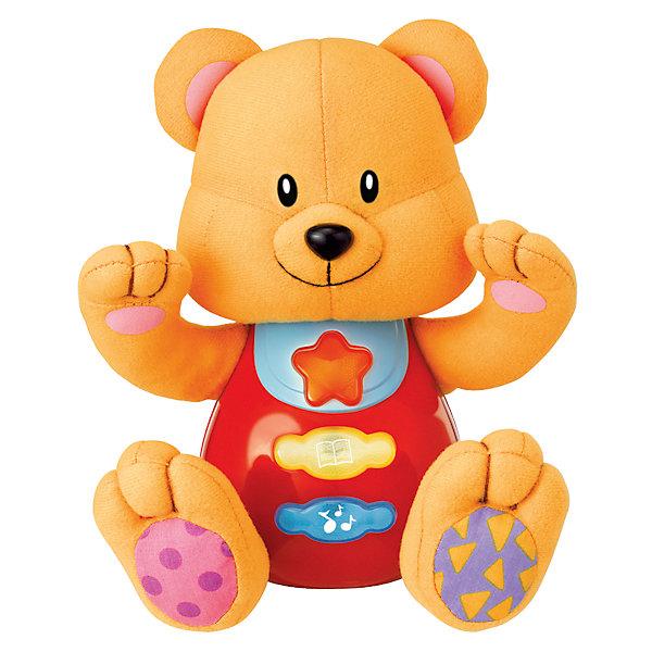 Обучающая игрушка Стихи А.Барто - Медведь, со светом и звуком, УмкаИнтерактивные мягкие игрушки<br>Обучающая игрушка Стихи А.Барто, со светом и звуком, Умка – это увлекательный, развивающий подарок для Вашего малыша. Обучающий забавный зверек познакомит ребёнка с добрыми детскими стишками и песенкой. На животике расположены три кнопки. При нажатии на одну из них малыш услышит песенку От улыбки. При нажатии на вторую - 6 приятных мелодий. При нажатии на кнопку с книжкой поочередно прозвучат 5 замечательных стихотворений А. Барто из серии Игрушки (Бычок, Зайка, Лошадка, Слон, Мишка). Все стихи и песенки сопровождаются световыми эффектами. Голова и лапки у игрушек мягкие с шуршащими вставками для развития тактильных ощущений. Туловище изготовлено из высококачественной пластмассы. Игрушка отлично способствует развитию памяти, логики, визуального и слухового восприятия, моторики.  Дополнительная информация:  - Игрушка работает от 2 батареек типа АА (входят в комплект) - Размер медвежонка: 16 х 18 х 8 см. - Размер упаковки: 20 х 21,5 х 11 см. Обучающую игрушку Стихи А.Барто, со светом и звуком, Умка можно купить в нашем интернет-магазине.<br>Ширина мм: 120; Глубина мм: 220; Высота мм: 210; Вес г: 470; Возраст от месяцев: 6; Возраст до месяцев: 60; Пол: Унисекс; Возраст: Детский; SKU: 4838276;