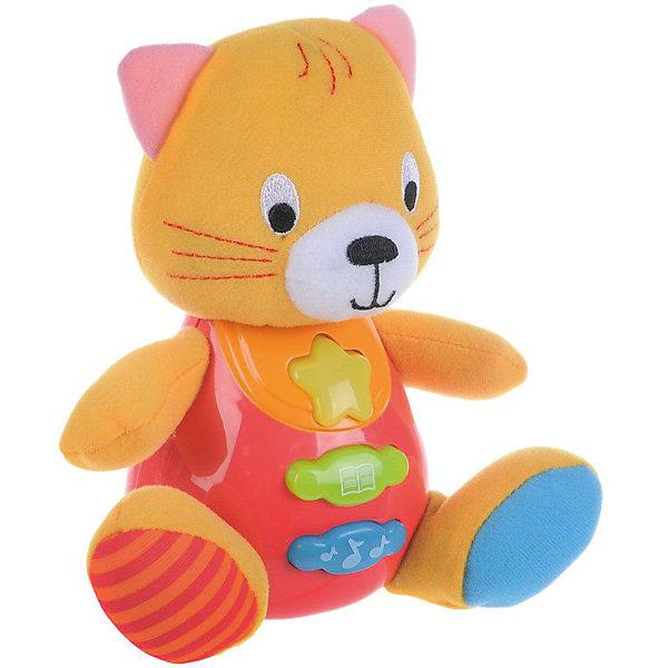 Обучающая игрушка Стихи, УмкаИнтерактивные игрушки для малышей<br>Обучающая игрушка Стихи, со светом и звуком, Умка – это увлекательный, развивающий подарок для Вашего малыша. Обучающий забавный зверек познакомит ребёнка с добрыми детскими стишками и песенкой. На животике расположены три кнопки. При нажатии на одну из них малыш услышит песенку. При нажатии на вторую - 6 приятных мелодий. При нажатии на кнопку с книжкой поочередно прозвучат 5 замечательных стихотворений. Все стихи и песенки сопровождаются световыми эффектами. Голова и лапки у игрушки мягкие с шуршащими вставками для развития тактильных ощущений. Туловище изготовлено из высококачественной пластмассы. Игрушка отлично способствует развитию памяти, логики, визуального и слухового восприятия, моторики.  <br><br>Дополнительная информация:  <br>- Игрушка работает от 2 батареек типа АА (входят в комплект)<br>- Размер медвежонка: 16 х 18 х 8 см. <br>- Размер упаковки: 20 х 21,5 х 11 см. <br><br>Обучающую игрушку Стихи, со светом и звуком, Умка можно купить в нашем интернет-магазине.<br>Ширина мм: 380; Глубина мм: 430; Высота мм: 460; Вес г: 520; Возраст от месяцев: 12; Возраст до месяцев: 48; Пол: Унисекс; Возраст: Детский; SKU: 4838282;