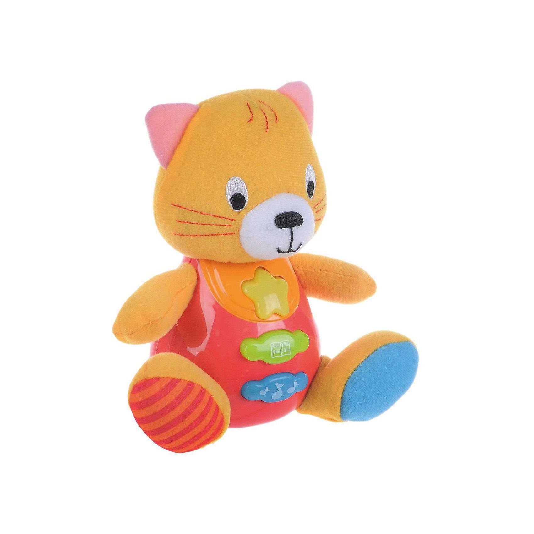 Обучающая игрушка Стихи, УмкаОбучающая игрушка Стихи, со светом и звуком, Умка – это увлекательный, развивающий подарок для Вашего малыша. Обучающий забавный зверек познакомит ребёнка с добрыми детскими стишками и песенкой. На животике расположены три кнопки. При нажатии на одну из них малыш услышит песенку. При нажатии на вторую - 6 приятных мелодий. При нажатии на кнопку с книжкой поочередно прозвучат 5 замечательных стихотворений. Все стихи и песенки сопровождаются световыми эффектами. Голова и лапки у игрушки мягкие с шуршащими вставками для развития тактильных ощущений. Туловище изготовлено из высококачественной пластмассы. Игрушка отлично способствует развитию памяти, логики, визуального и слухового восприятия, моторики.  <br><br>Дополнительная информация:  <br>- Игрушка работает от 2 батареек типа АА (входят в комплект)<br>- Размер медвежонка: 16 х 18 х 8 см. <br>- Размер упаковки: 20 х 21,5 х 11 см. <br><br>Обучающую игрушку Стихи, со светом и звуком, Умка можно купить в нашем интернет-магазине.<br><br>Ширина мм: 380<br>Глубина мм: 430<br>Высота мм: 460<br>Вес г: 520<br>Возраст от месяцев: 12<br>Возраст до месяцев: 48<br>Пол: Унисекс<br>Возраст: Детский<br>SKU: 4838282