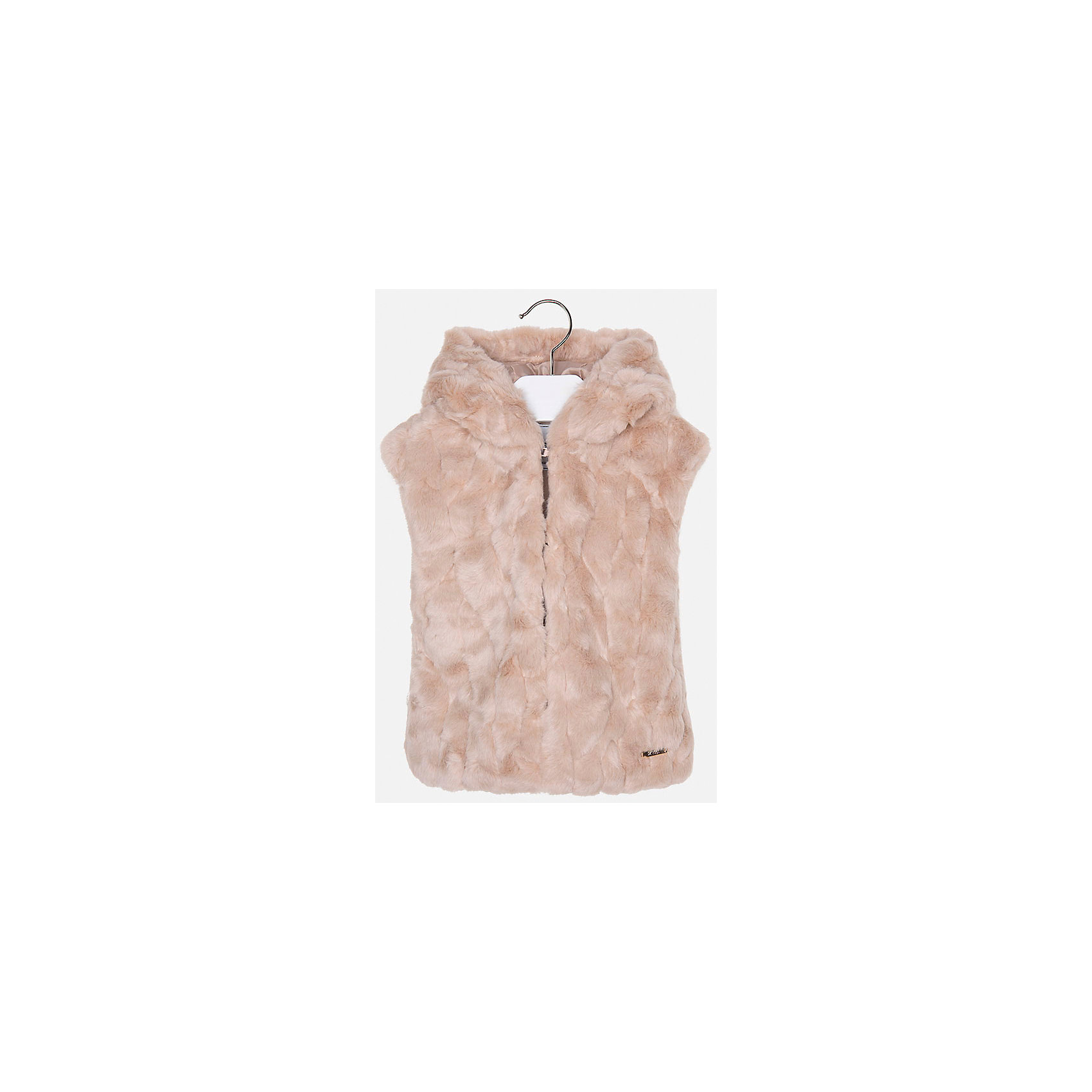 Жилет для девочки MayoralВерхняя одежда<br>Жилет для девочки из коллекции осень-зима 2016-2017 известного испанского бренда Mayoral (Майорал). Удобный жилет из искусственного меха на каждый день. Приятный серо-коричневый цвет в сочетании с классическим дизайном и большим капюшоном придутся по вкусу вашей моднице. Жилет отлично подойдет как к юбкам и брюкам, так и к джинсам. Застегивается на крючки. Жилет имеет качественный крой и маленькую пластинку с наименованием бренда на лицевой стороне спереди.<br><br>Дополнительная информация:<br>- Длина: удлиненная<br>- Рукав: отсутствует<br>- Силуэт: прямой <br>Состав: 95 % Акриловое волокно, 5 % Полиэстер; Подкладка: 100 % полиэстер<br><br>Жилет для девочек Mayoral (Майорал) можно купить в нашем интернет-магазине.<br><br>Подробнее:<br>• Для детей в возрасте: от 8 до 14 лет<br>• Номер товара: 4843745 <br>Страна производитель: Китай<br><br>Ширина мм: 190<br>Глубина мм: 74<br>Высота мм: 229<br>Вес г: 236<br>Цвет: бежевый<br>Возраст от месяцев: 72<br>Возраст до месяцев: 84<br>Пол: Женский<br>Возраст: Детский<br>Размер: 122,116,128,98,134,104,110<br>SKU: 4843744