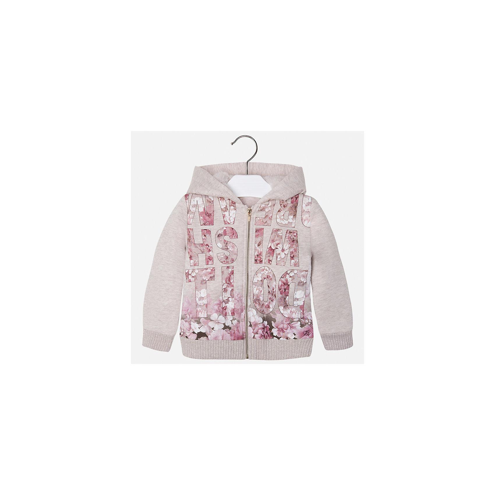 Куртка для девочки MayoralКуртка для девочки от известного испанского бренда Mayoral(Майорал). Модель с прямым силуэтом, застегивается на молнию, есть капюшон. В этой куртке ребенку будет тепло благодаря качественным материалам, сохраняющим тепло и резинкам на манжетах и подоле, которые не пропустят холодный воздух. Курточка украшена очаровательным принтом с буквами и цветами. Прекрасный вариант для маленьких принцесс!<br><br>Дополнительная информация:<br>Состав: 65% полиэстер, 35% хлопок. Подкладка: 100% полиэстер<br>Цвет: песочный<br>Вы можете купить куртку Mayoral(майорал) в нашем интернет-магазине.<br><br>Ширина мм: 356<br>Глубина мм: 10<br>Высота мм: 245<br>Вес г: 519<br>Цвет: бежевый<br>Возраст от месяцев: 36<br>Возраст до месяцев: 48<br>Пол: Женский<br>Возраст: Детский<br>Размер: 104,128,134,98,110,122,116,92<br>SKU: 4843768