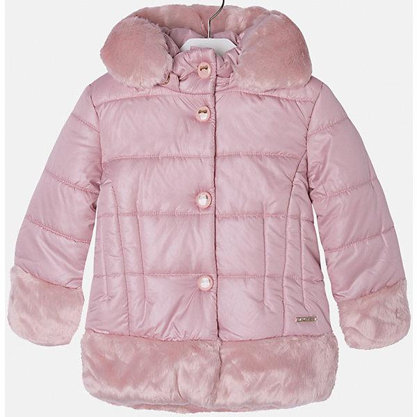 Куртка для девочки MayoralДемисезонные куртки<br>Куртка для девочки из коллекции осень-зима 2016-2017 известного испанского бренда Mayoral (Майорал). Удобная и красивая отднотонная куртка без рисунка. Приятный нежно-розовый цвет в сочетании с плюшевыми манжетами, низом куртки и каймой капюшона придутся по вкусу вашей моднице. Плащевая ткань основной части куртки непромокаемая и не пропускает ветер. Куртка отлично подойдет как к юбкам и брюкам, так и к джинсам. Застегивается на молнию и кнопки. Куртка имеет качественный крой и маленькую пластинку с наименованием бренда на лицевой стороне спереди.<br><br>Дополнительная информация:<br>- Длина: удлиненная <br>- Силуэт: прямой <br>- Утеплитель: синтепон, плотность 120 г/кв.м<br>Состав: 100 % полиэстер<br><br>Куртку для девочки Mayoral (Майорал) можно купить в нашем интернет-магазине.<br><br>Подробнее:<br>• Для детей в возрасте: от 8 до 14 лет<br>• Номер товара: 4843795 <br>Страна производитель: Китай<br><br>Ширина мм: 356<br>Глубина мм: 10<br>Высота мм: 245<br>Вес г: 519<br>Цвет: розовый<br>Возраст от месяцев: 60<br>Возраст до месяцев: 72<br>Пол: Женский<br>Возраст: Детский<br>Размер: 116,98,128,122,104,134,110<br>SKU: 4843794