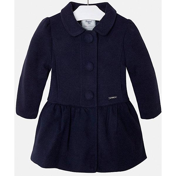 Пальто для девочки MayoralВерхняя одежда<br>Пальто для девочки из коллекции осень-зима 2016-2017 известного испанского бренда Mayoral (Майорал). Стильное и удобное темно-синее пальто классического покроя. Приталенный силуэт, откидной воротничок и модные крупные пуговки придутся по вкусу вашей моднице. Пальто застегивается на молнию и содержит синтепон как утеплитель, карманы отсутствуют. Пальто имеет качественный крой и маленькую пластинку с наименованием бренда на лицевой стороне спереди.<br><br>Дополнительная информация:<br>- Длина: удлиненная <br>- Силуэт: приталенный; прямой <br>- Утеплитель: синтепон<br>Состав: полиэстер 90%,вискоза 8%,эластан 2%<br><br>Пальто для девочки Mayoral (Майорал) можно купить в нашем интернет-магазине.<br><br>Подробнее:<br>• Для детей в возрасте: от 5 до 12 лет<br>• Номер товара: 4843787 <br>Страна производитель: Китай<br><br>Ширина мм: 356<br>Глубина мм: 10<br>Высота мм: 245<br>Вес г: 519<br>Цвет: синий<br>Возраст от месяцев: 36<br>Возраст до месяцев: 48<br>Пол: Женский<br>Возраст: Детский<br>Размер: 104,134,110,122,98,128,116<br>SKU: 4843834