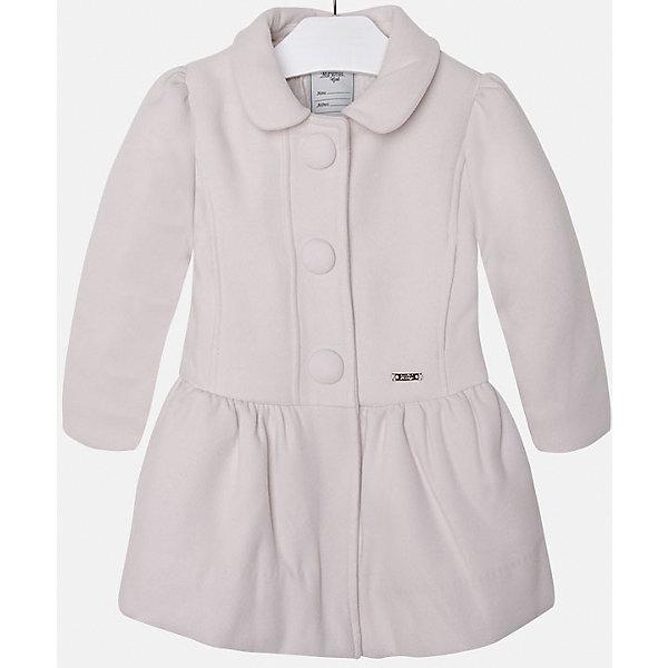 Пальто для девочки MayoralВерхняя одежда<br>Пальто для девочки из коллекции осень-зима 2016-2017 известного испанского бренда Mayoral (Майорал). Стильное и удобное светло-бежевое пальто классического покроя. Приталенный силуэт, откидной воротничок и модные крупные пуговки придутся по вкусу вашей моднице. Пальто застегивается на молнию и содержит синтепон как утеплитель, карманы отсутствуют. Пальто имеет качественный крой и маленькую пластинку с наименованием бренда на лицевой стороне спереди.<br><br>Дополнительная информация:<br>- Длина: удлиненная <br>- Силуэт: приталенный; прямой <br>- Утеплитель: синтепон<br>Состав: полиэстер 90%,вискоза 8%,эластан 2%<br><br>Пальто для девочки Mayoral (Майорал) можно купить в нашем интернет-магазине.<br><br>Подробнее:<br>• Для детей в возрасте: от 5 до 12 лет<br>• Номер товара: 4843843 <br>Страна производитель: Китай<br><br>Ширина мм: 356<br>Глубина мм: 10<br>Высота мм: 245<br>Вес г: 519<br>Цвет: бежевый<br>Возраст от месяцев: 96<br>Возраст до месяцев: 108<br>Пол: Женский<br>Возраст: Детский<br>Размер: 128,134,98,116,110,122,104<br>SKU: 4843842