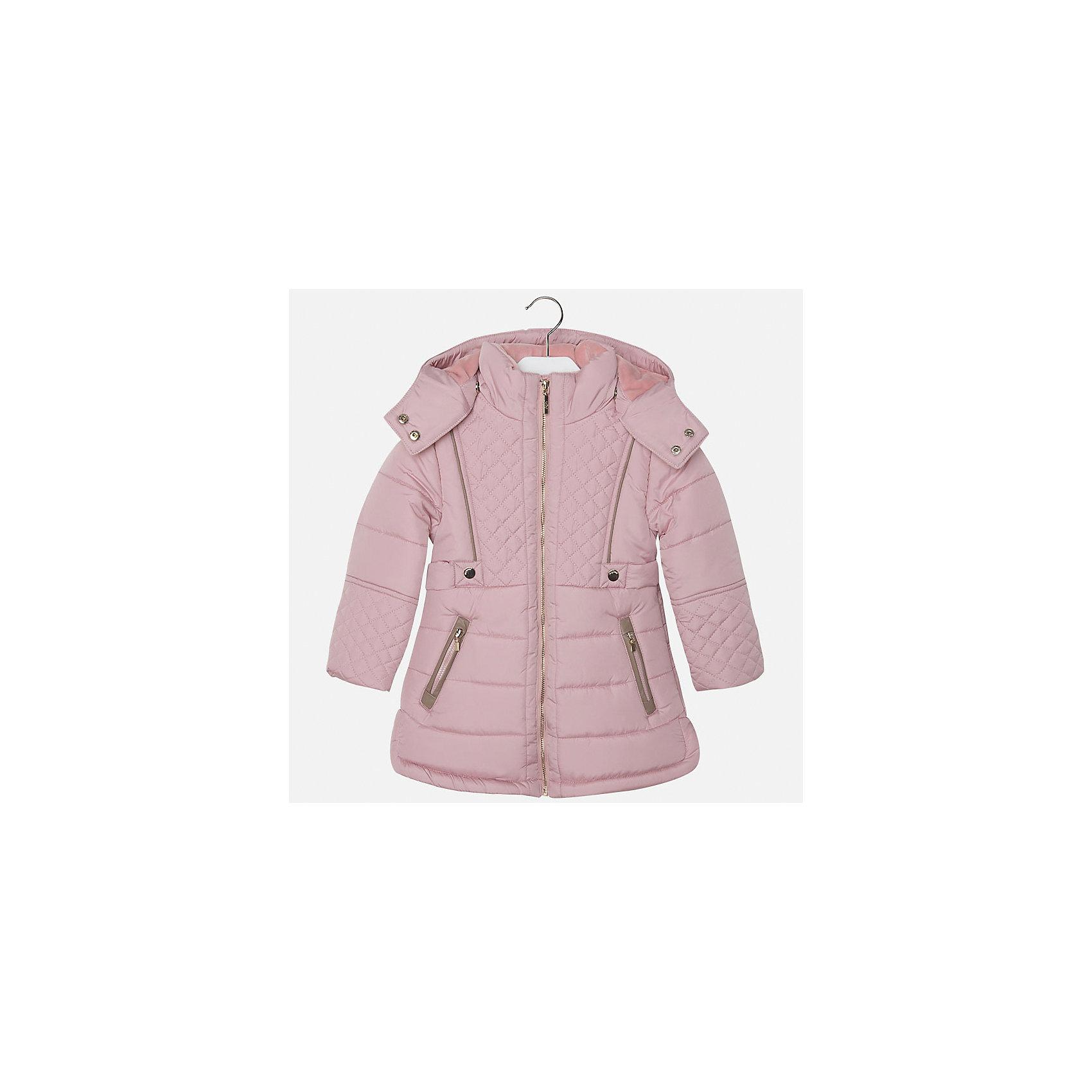 Куртка для девочки MayoralТеплая куртка для девочки от марки Mayoral(Майорал). Модель с приталенным силуэтом, застегивается на молнию, есть капюшон с кнопками и 2 кармана по бокам. Куртка очень удобная, каждая прогулка в ней пройдет с комфортом!<br><br>Дополнительная информация:<br>Состав: 100% полиэстер<br>Цвет: розовый<br>Куртку Mayoral(Майорал) вы можете приобрести в нашем интернет-магазине.<br><br>Ширина мм: 356<br>Глубина мм: 10<br>Высота мм: 245<br>Вес г: 519<br>Цвет: розовый<br>Возраст от месяцев: 96<br>Возраст до месяцев: 108<br>Пол: Женский<br>Возраст: Детский<br>Размер: 128,110,104,98,116,134,122<br>SKU: 4843858