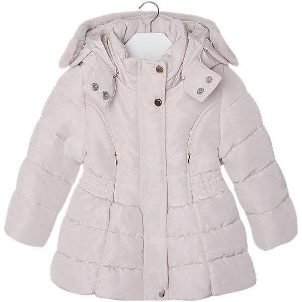 Куртка для девочки MayoralПальто и плащи<br>Куртка для девочки от известной испанской марки Mayoral(майорал). Модель с приталенным и расширенным к низу силуэтом. Есть большой удобный капюшон с искусственным мехом, застегивается на кнопки. Стильная теплая курточка - то, что нужно для комфортных прогулок!<br><br>Дополнительная информация:<br>Состав: 100% полиэстер<br>Цвет: золотой<br>Куртку Mayoral(Майорал) вы можете приобрести в нашем интернет-магазине.<br><br>Ширина мм: 356<br>Глубина мм: 10<br>Высота мм: 245<br>Вес г: 519<br>Цвет: желтый<br>Возраст от месяцев: 36<br>Возраст до месяцев: 48<br>Пол: Женский<br>Возраст: Детский<br>Размер: 104,98,128,110,116,122,134<br>SKU: 4843882