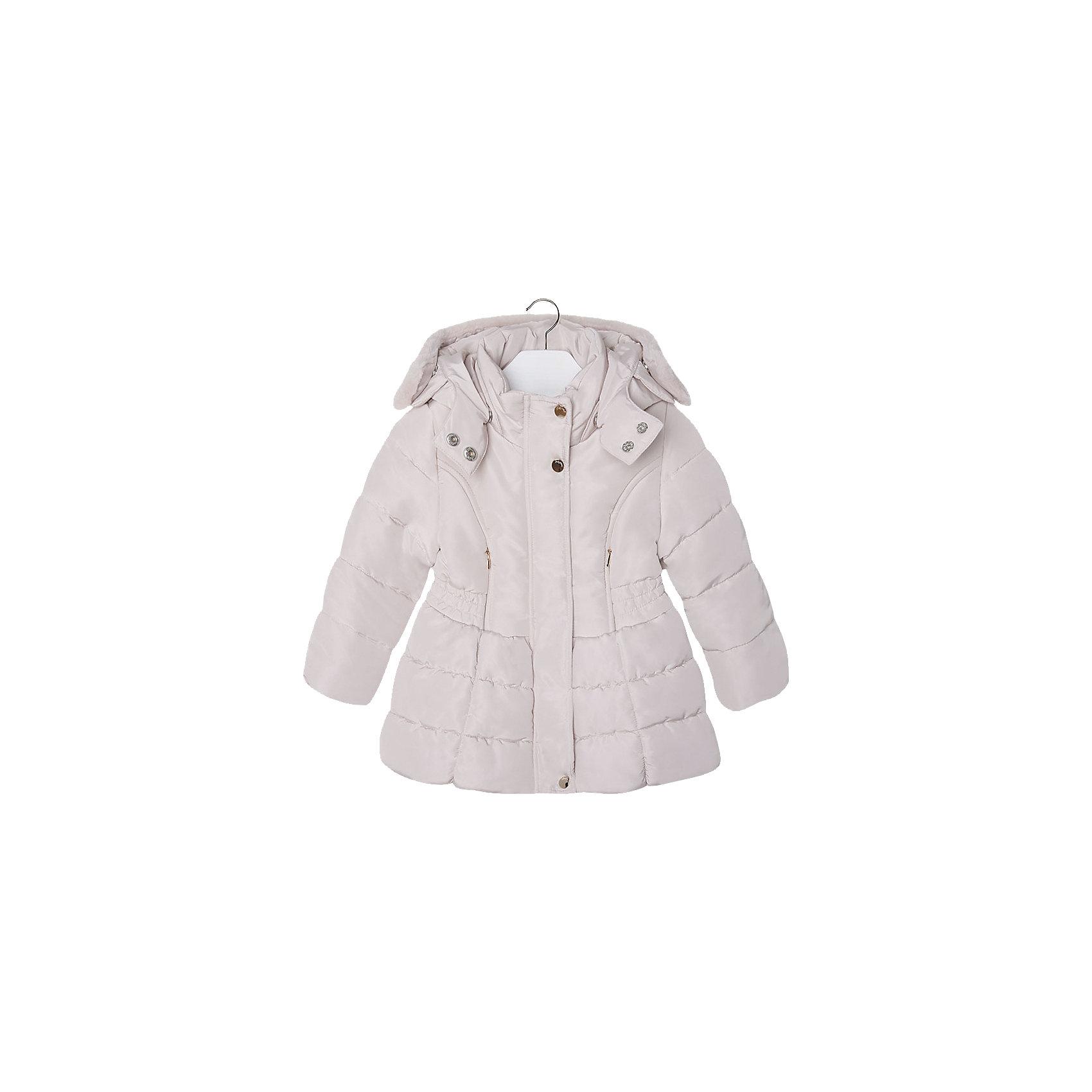 Куртка для девочки MayoralВерхняя одежда<br>Куртка для девочки от известной испанской марки Mayoral(майорал). Модель с приталенным и расширенным к низу силуэтом. Есть большой удобный капюшон с искусственным мехом, застегивается на кнопки. Стильная теплая курточка - то, что нужно для комфортных прогулок!<br><br>Дополнительная информация:<br>Состав: 100% полиэстер<br>Цвет: золотой<br>Куртку Mayoral(Майорал) вы можете приобрести в нашем интернет-магазине.<br><br>Ширина мм: 356<br>Глубина мм: 10<br>Высота мм: 245<br>Вес г: 519<br>Цвет: желтый<br>Возраст от месяцев: 48<br>Возраст до месяцев: 60<br>Пол: Женский<br>Возраст: Детский<br>Размер: 110,128,98,104,134,122,116<br>SKU: 4843882