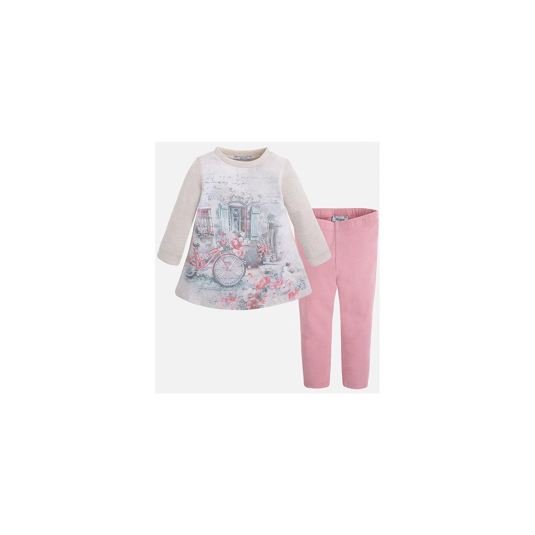 Mayoral Комплект для девочки Mayoral комплект aziz bebe для девочки цвет молочный розовый