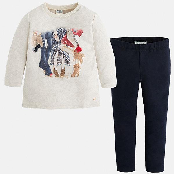 Купить со скидкой Комплект:футболка и леггинсы для девочки Mayoral