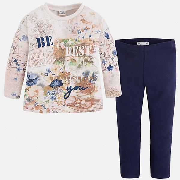Леггинсы для девочки MayoralКомплекты<br>Комплект из леггинсов и свитера для девочки от популярного испанского бренда Mayoral(Майорал). Изготовленный из прочных, хорошо сохраняющих тепло материалов. Яркая расцветка с оригинальным принтом - то, что нужно моднице, любящей быть в центре внимания!<br>Дополнительная информация:<br>-цвет: темно-синий/белый<br>-состав: свитер: 48% хлопок, 47% полиэстер, 5% эластан; леггинсы: 92% хлопок, 8% эластан<br>Комплект из леггинсов и свитера Mayoral(Майорал) вы можете купить в нашем интернет-магазине.<br><br>Ширина мм: 123<br>Глубина мм: 10<br>Высота мм: 149<br>Вес г: 209<br>Цвет: синий<br>Возраст от месяцев: 18<br>Возраст до месяцев: 24<br>Пол: Женский<br>Возраст: Детский<br>Размер: 92,128,116,122,104,134,98,110<br>SKU: 4844143
