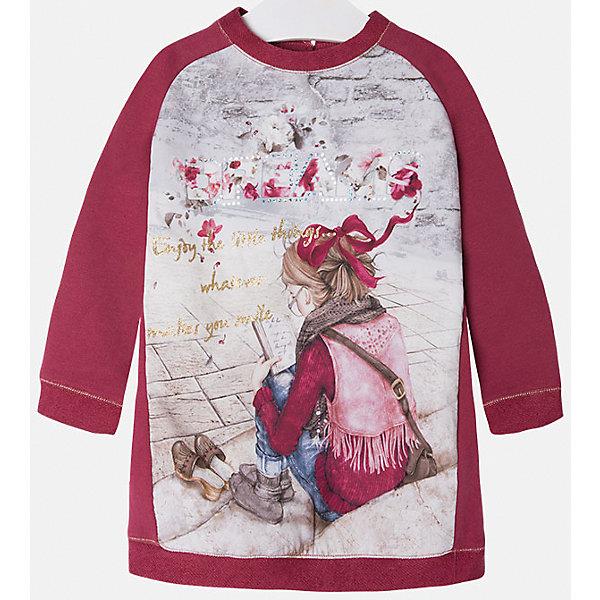 Платье для девочки MayoralПлатья и сарафаны<br>Платье для девочки от известного испанского бренда Mayoral(Майорал). Оригинальное платье с расширенным к низу силуэтом несомненно понравится ребенку. Носить такое платье будет очень удобно, а красивый принт спереди подчеркнет индивидуальность образа девочки.<br>Дополнительная информация:<br>-платье украшено принтом и стразами<br>-цвет: красный<br>-состав: 60% полиэстер, 39% хлопок, 1% эластан<br>Платье Mayoral(Майорал) вы можете приобрести в нашем интернет-магазине.<br><br>Ширина мм: 236<br>Глубина мм: 16<br>Высота мм: 184<br>Вес г: 177<br>Цвет: розовый<br>Возраст от месяцев: 24<br>Возраст до месяцев: 36<br>Пол: Женский<br>Возраст: Детский<br>Размер: 98,122,104,116,110,92,134,128<br>SKU: 4844197